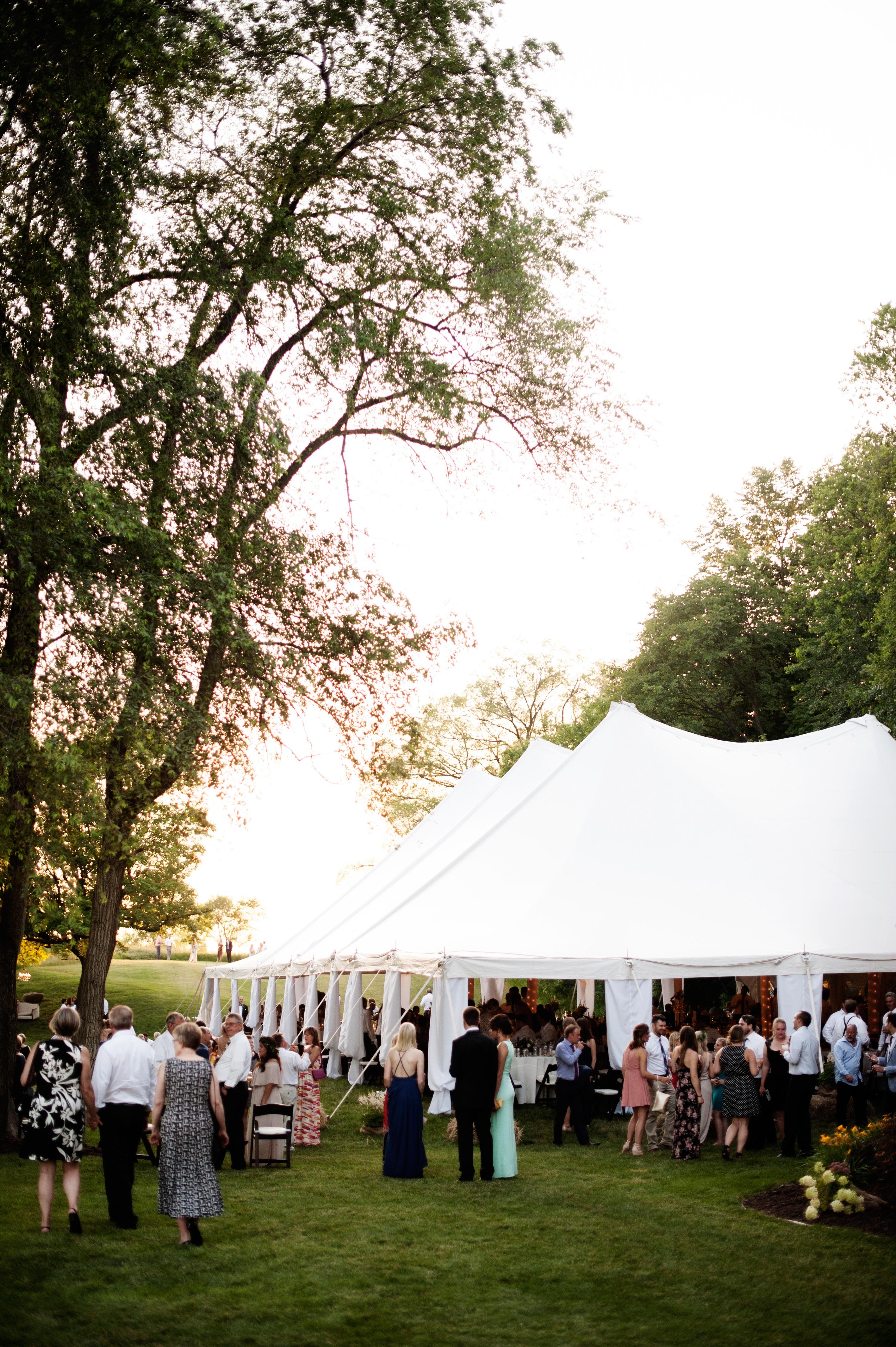 reception guests tent