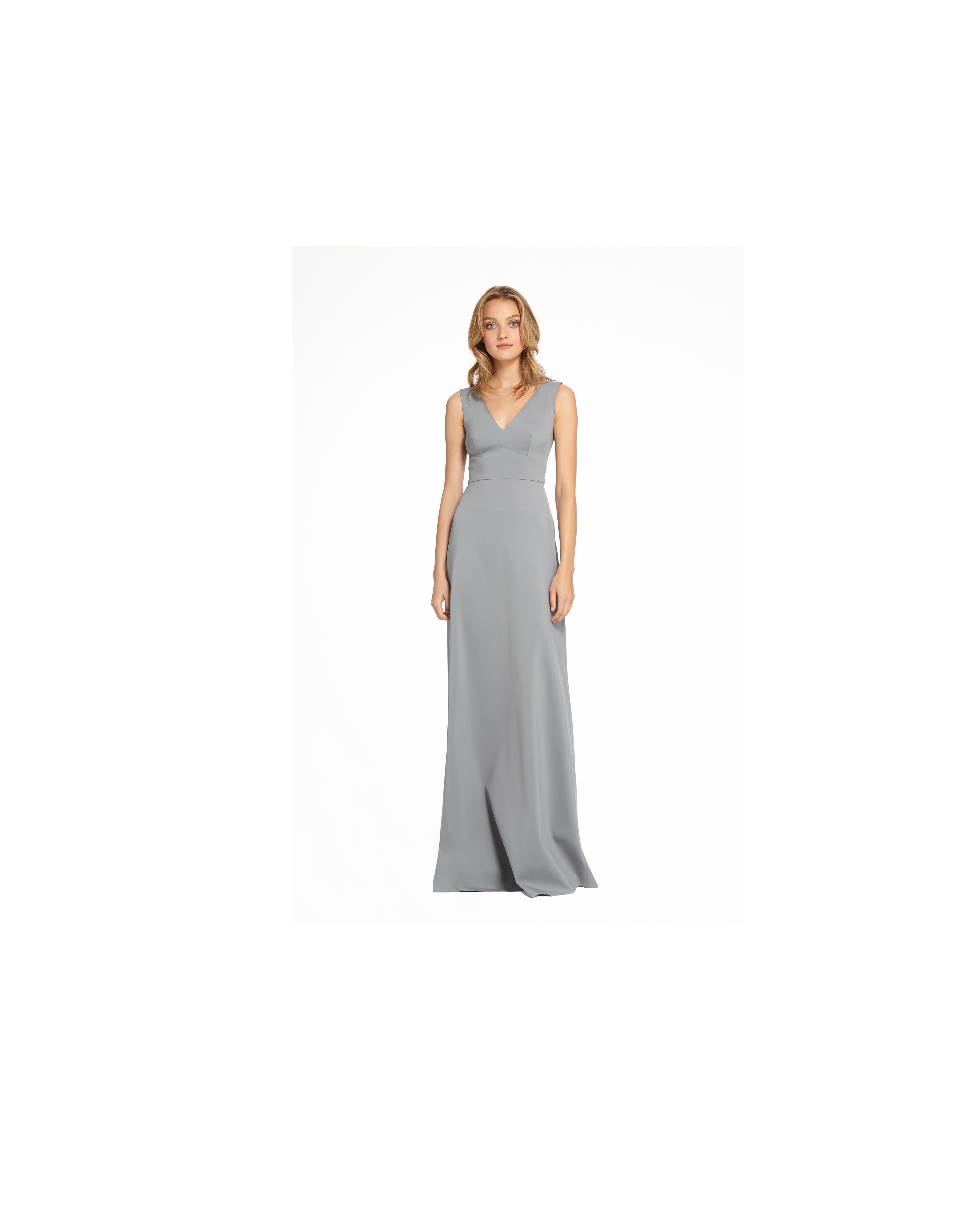 grey silver bridesmaid dresses monique lhuillier clementine dress