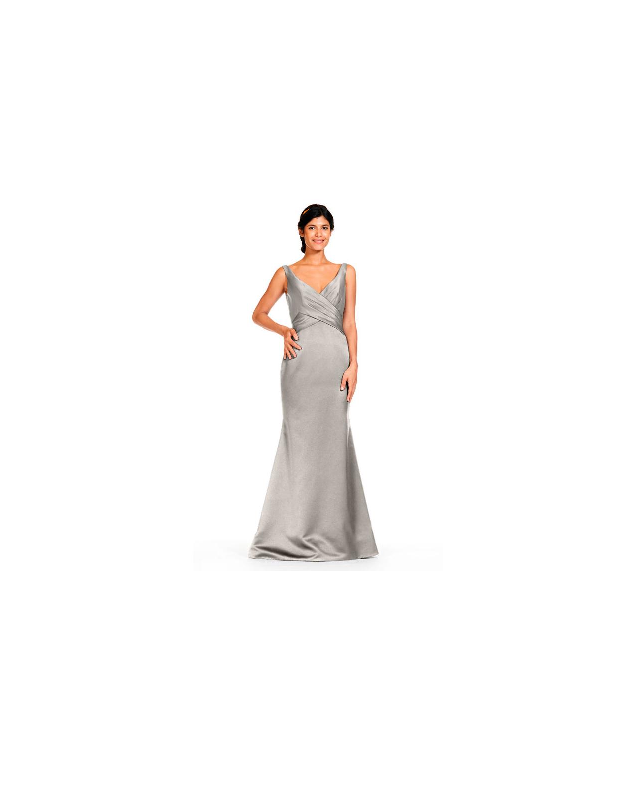 grey silver bridesmaid dresses bari jay 1832 dress