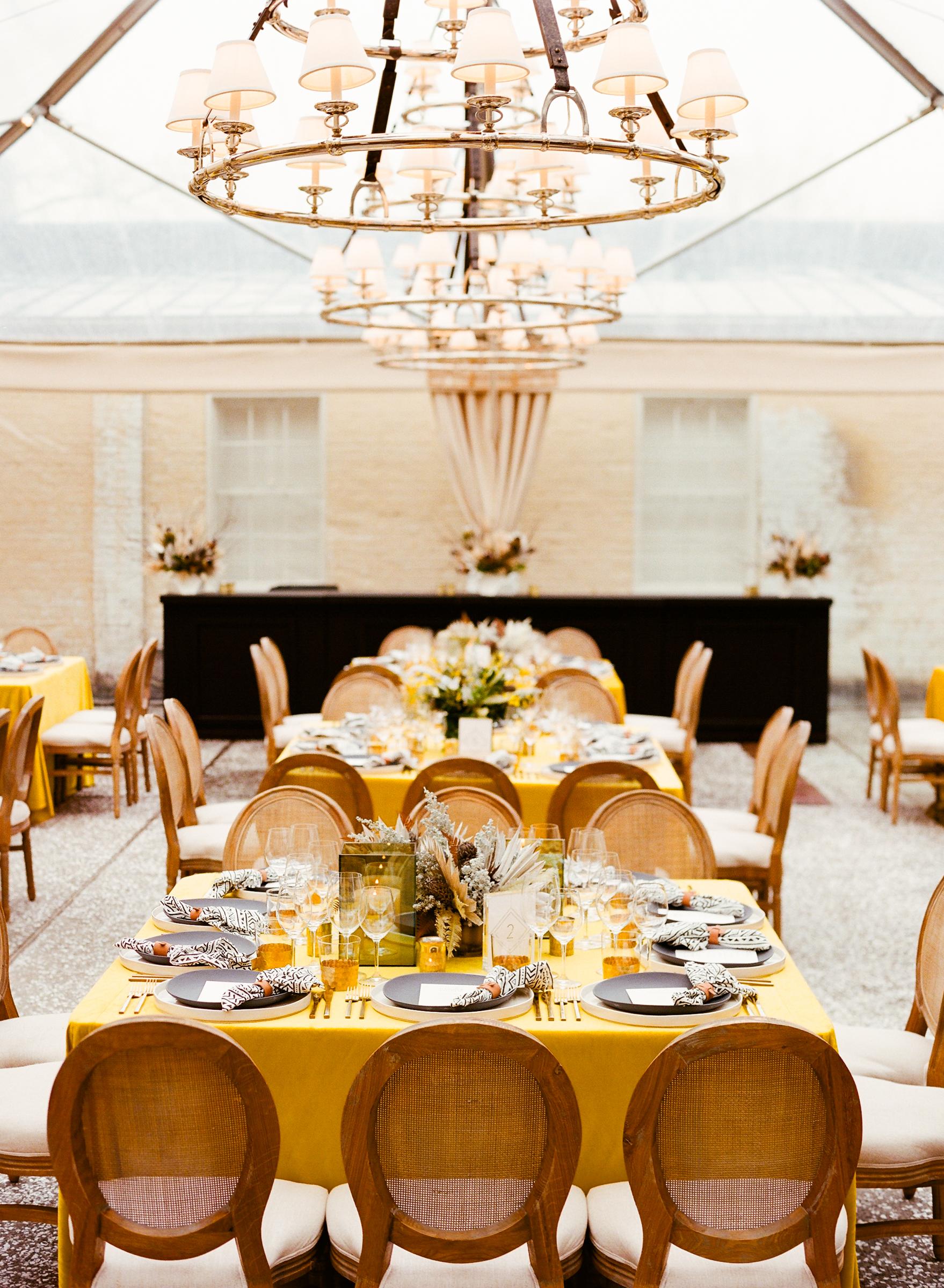 hamida charlie charleson wedding welcome tent reception