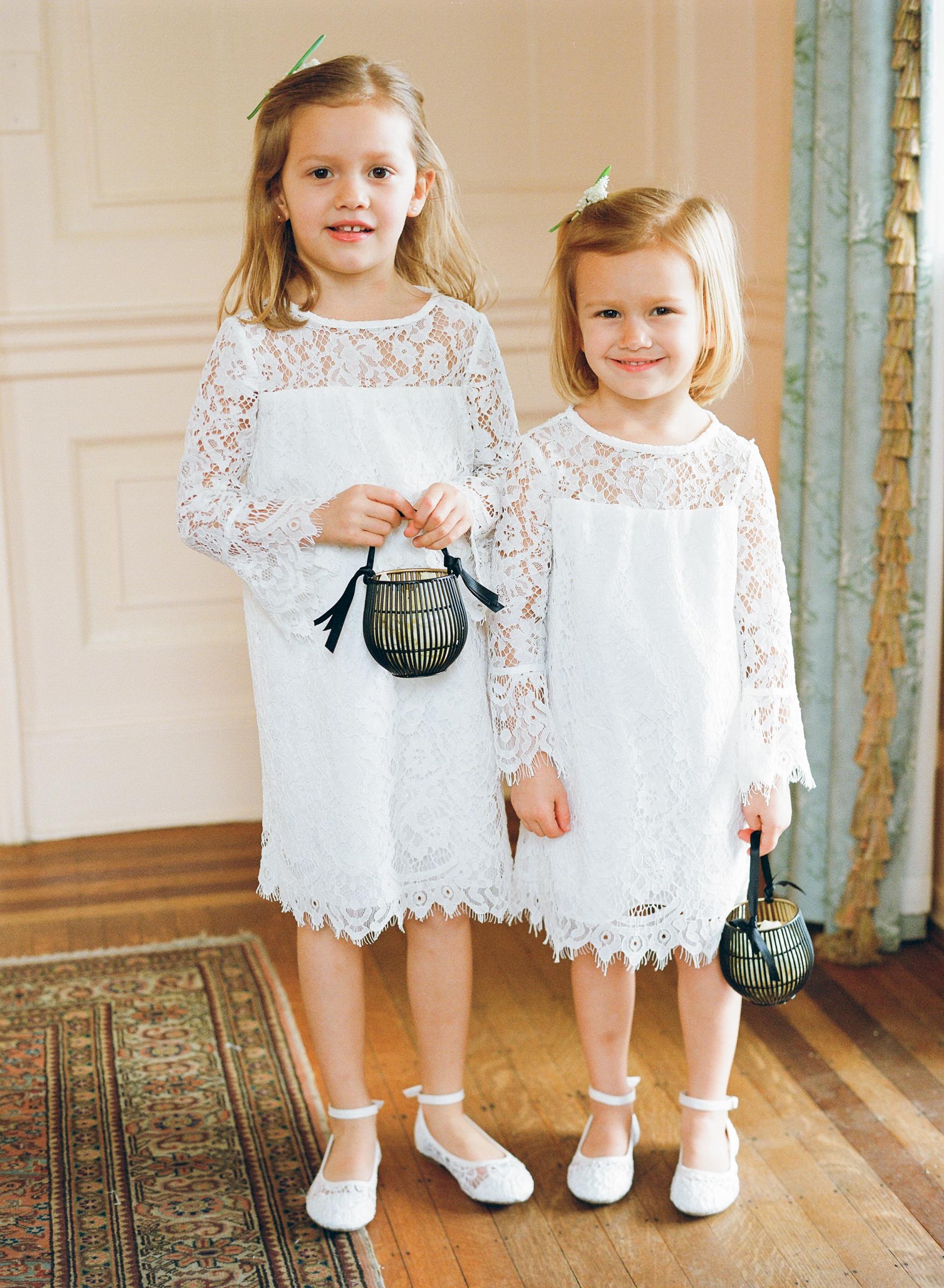 hamida charlie charleson wedding flower girls