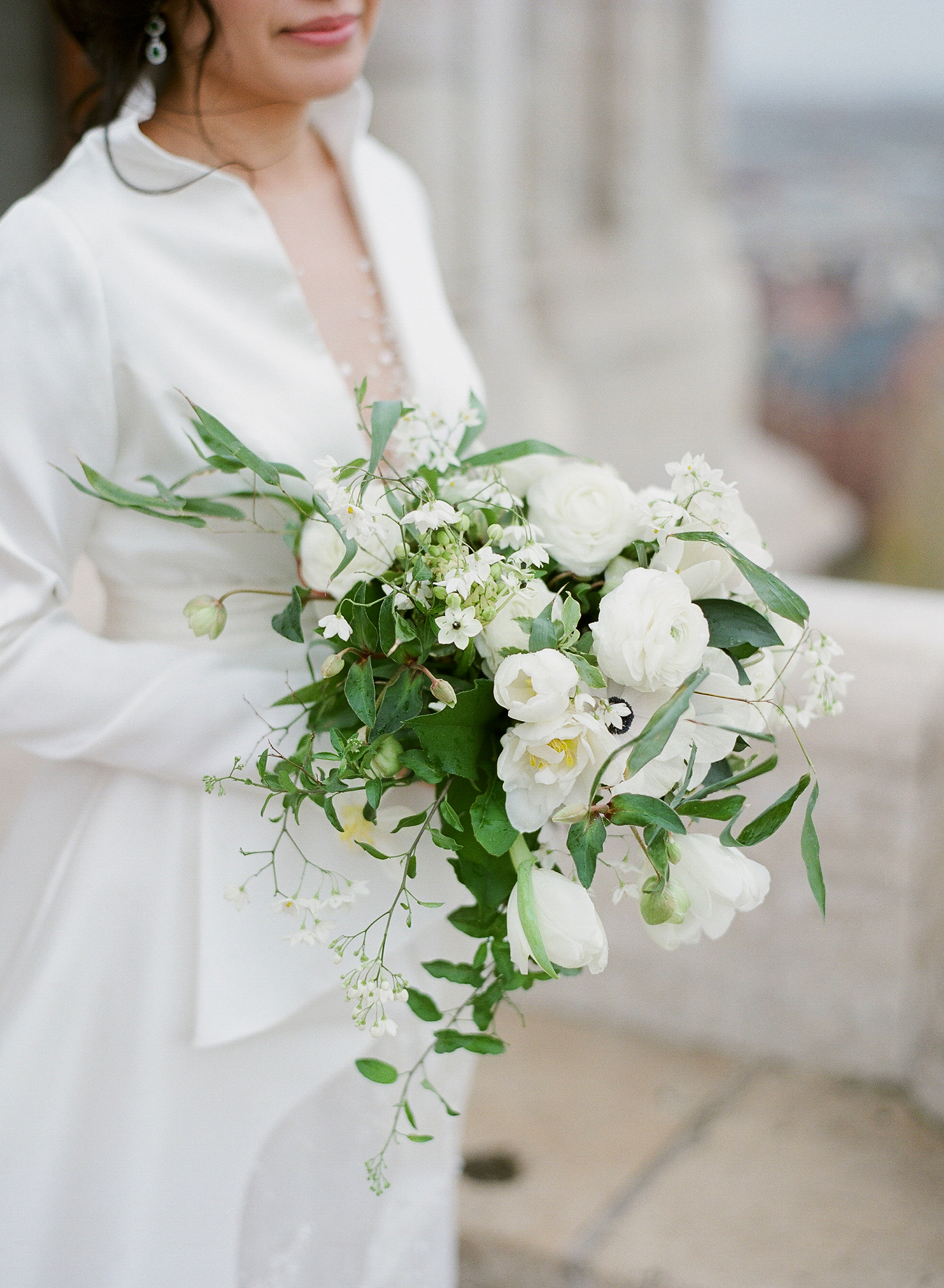 diana alex wedding bouquet white