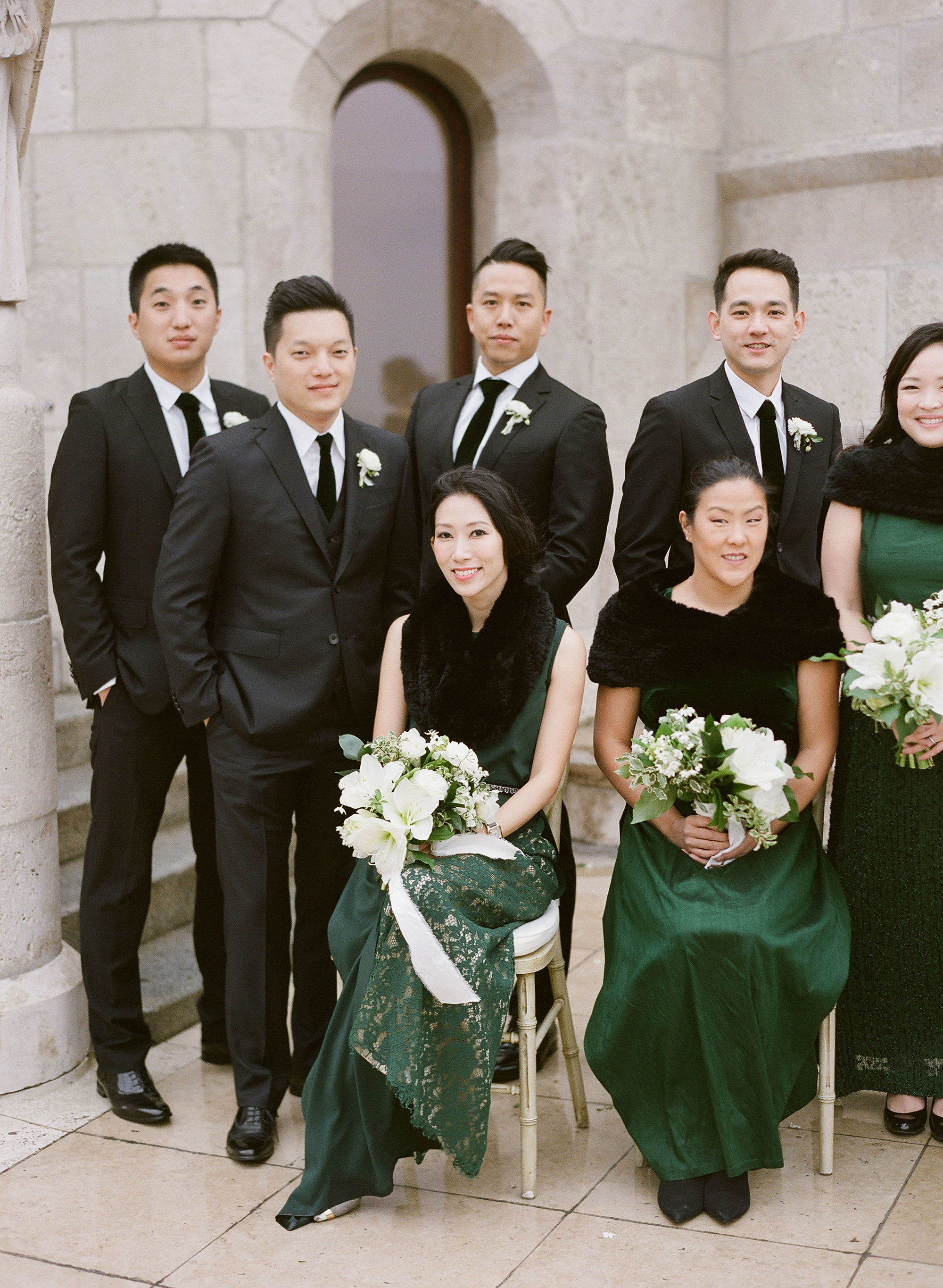 diana alex wedding bridal party
