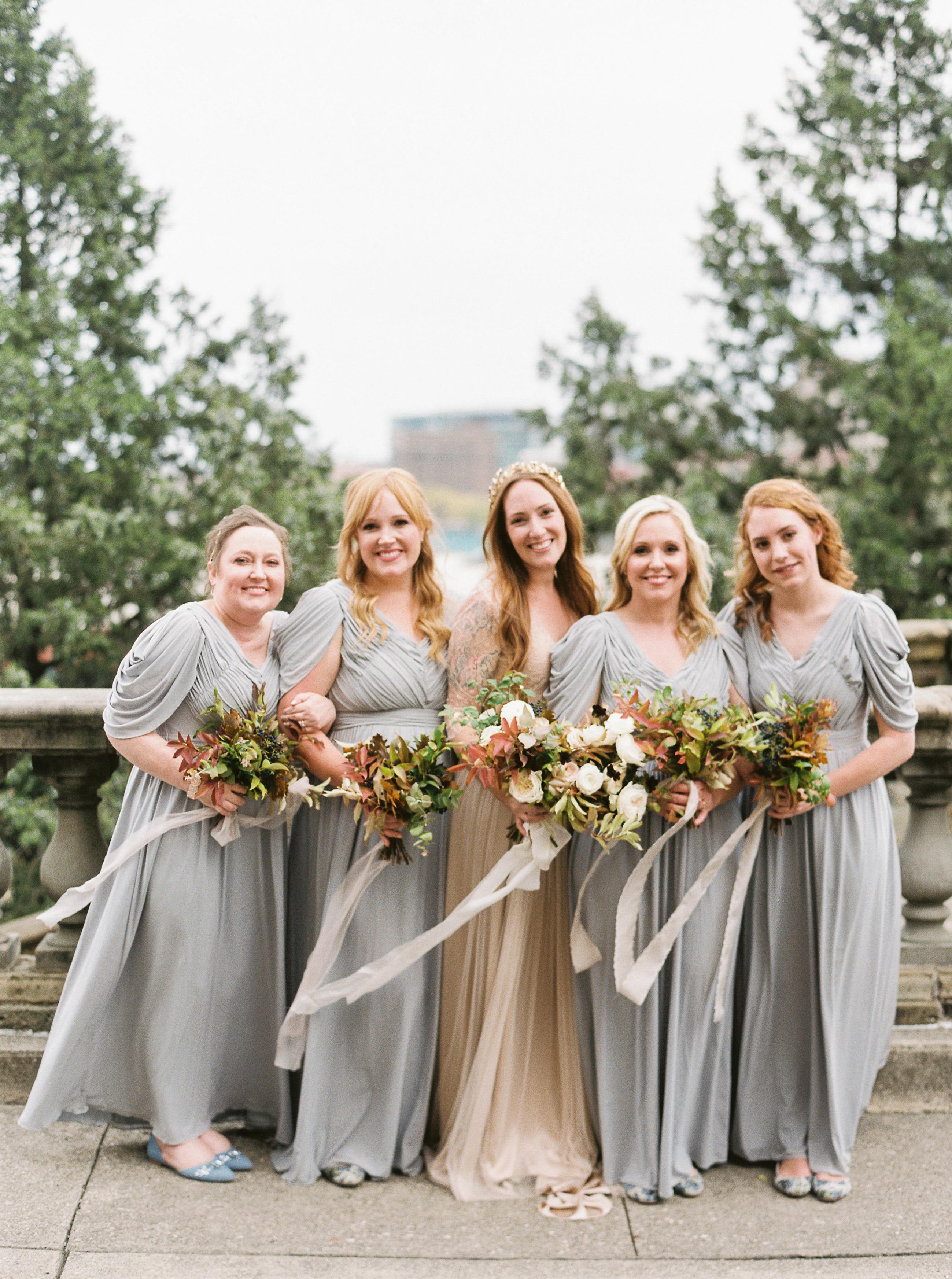 katie matthew ohio wedding bridesmaids