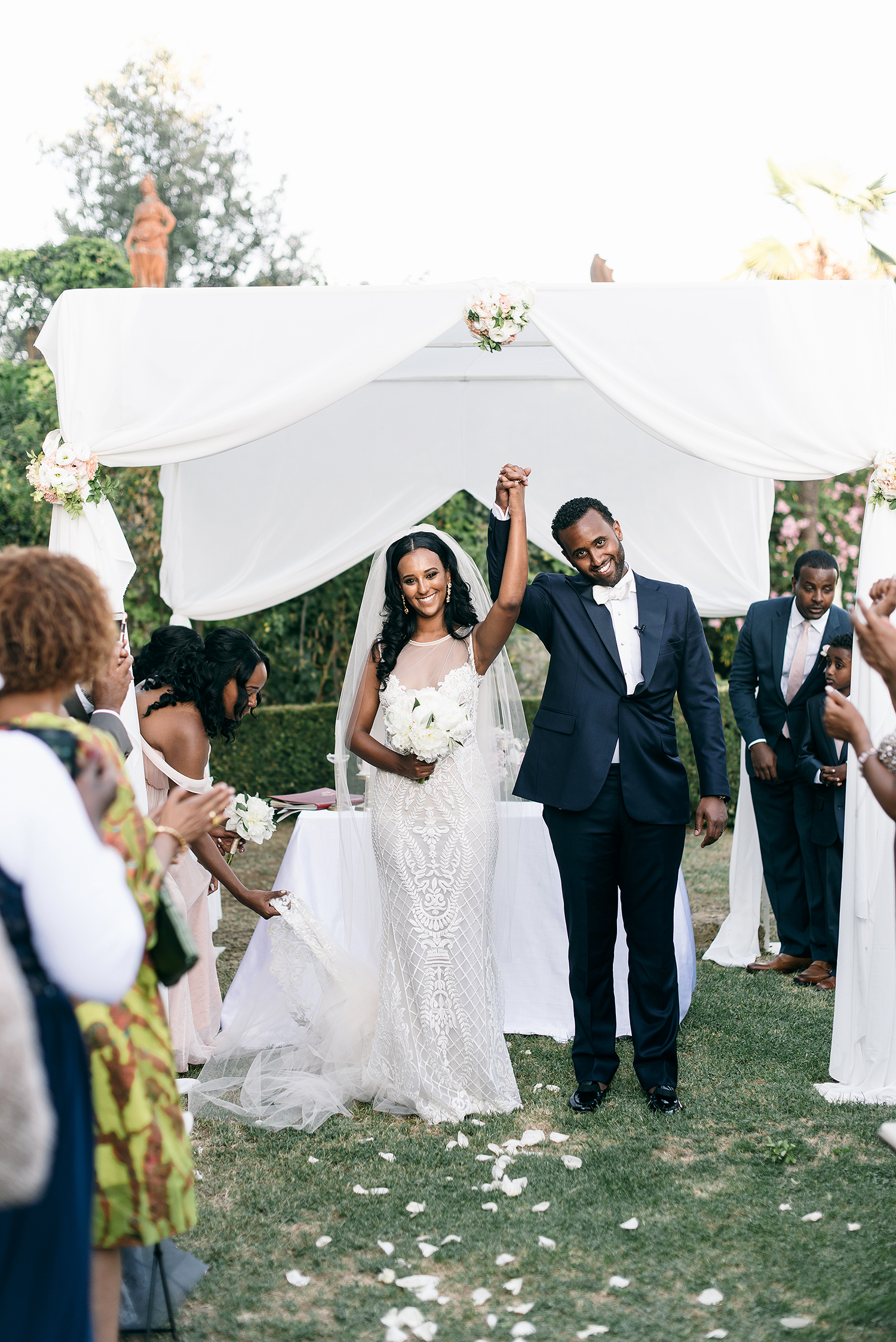 veronica mickias wedding bride and groom pronouncement