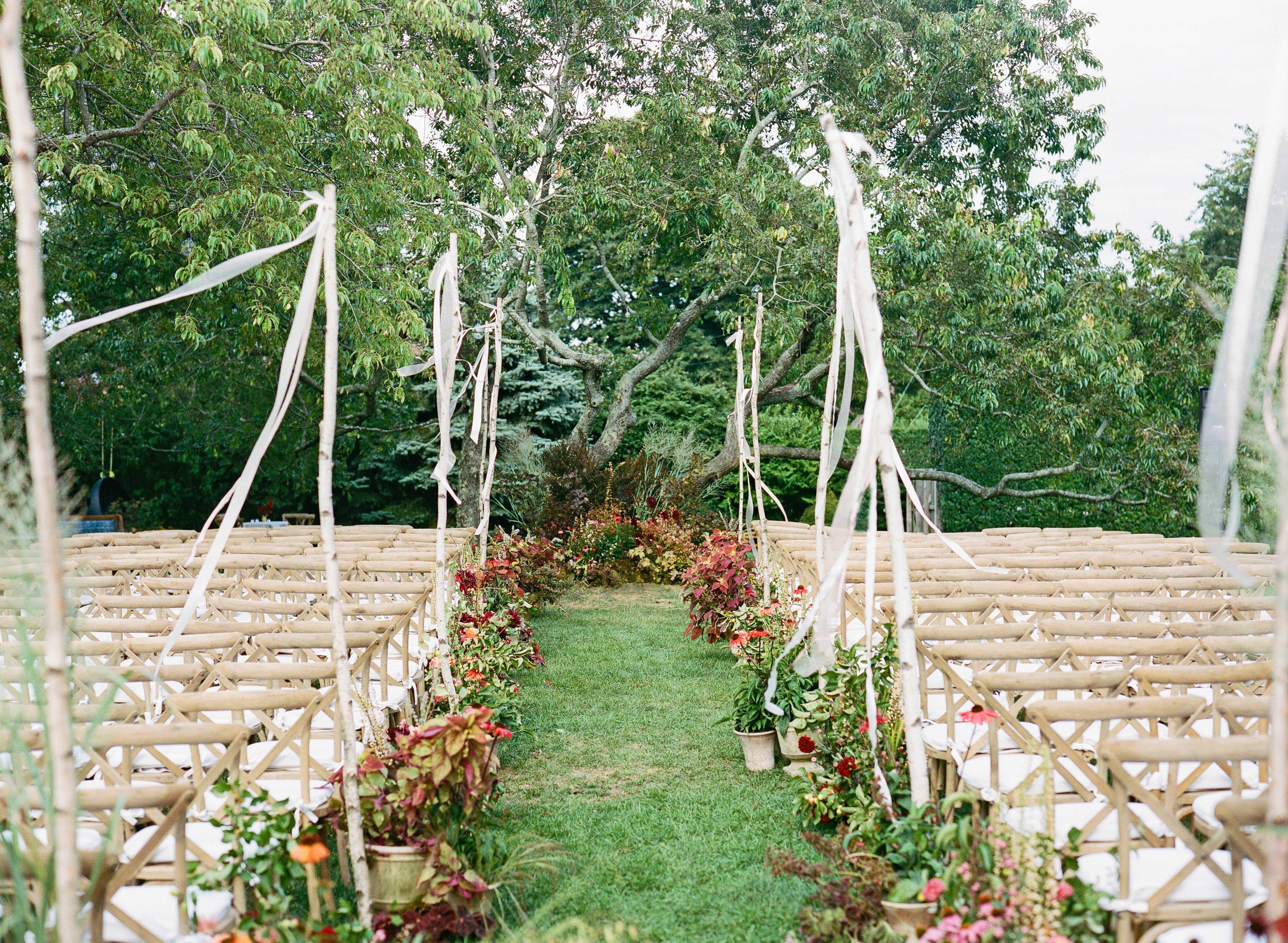 wedding ceremony aisle