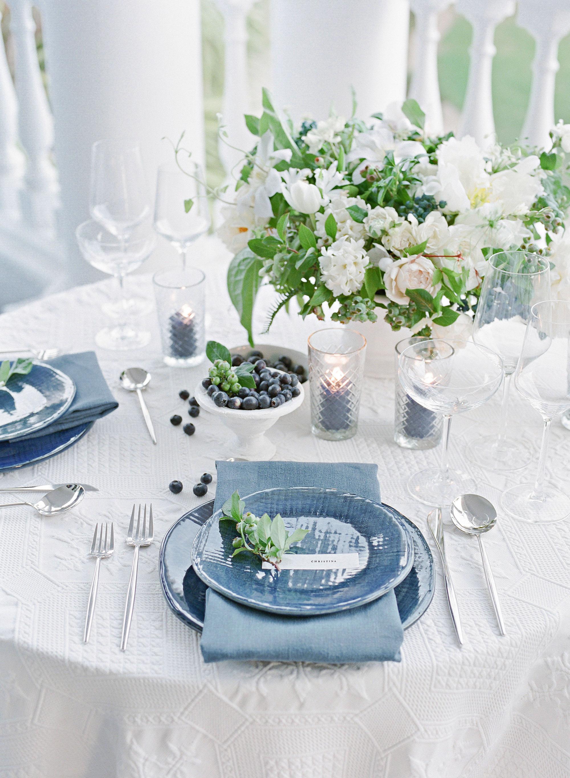 christina matt wedding charleston sc table setting