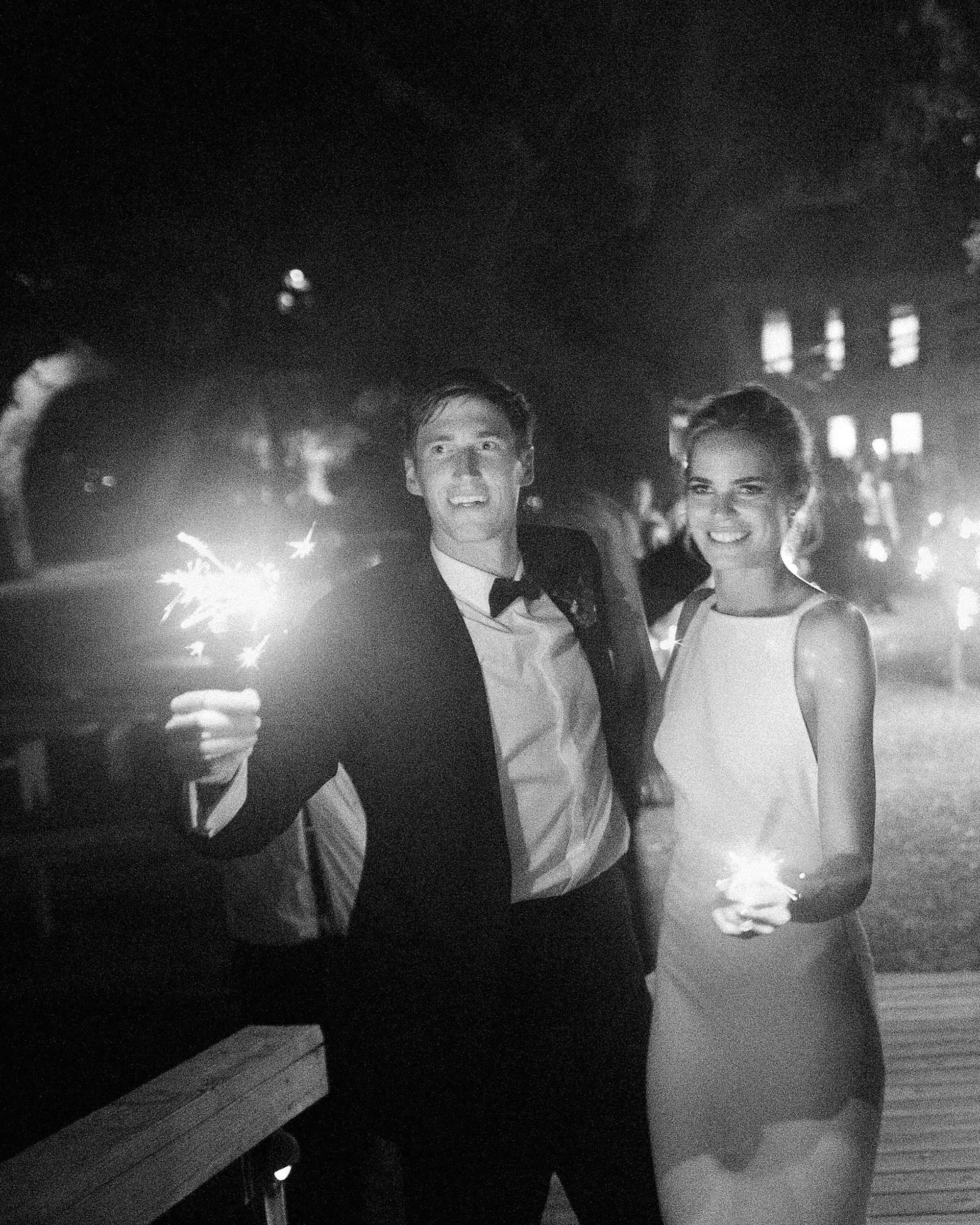 christina matt wedding charleston sc sparkler send off