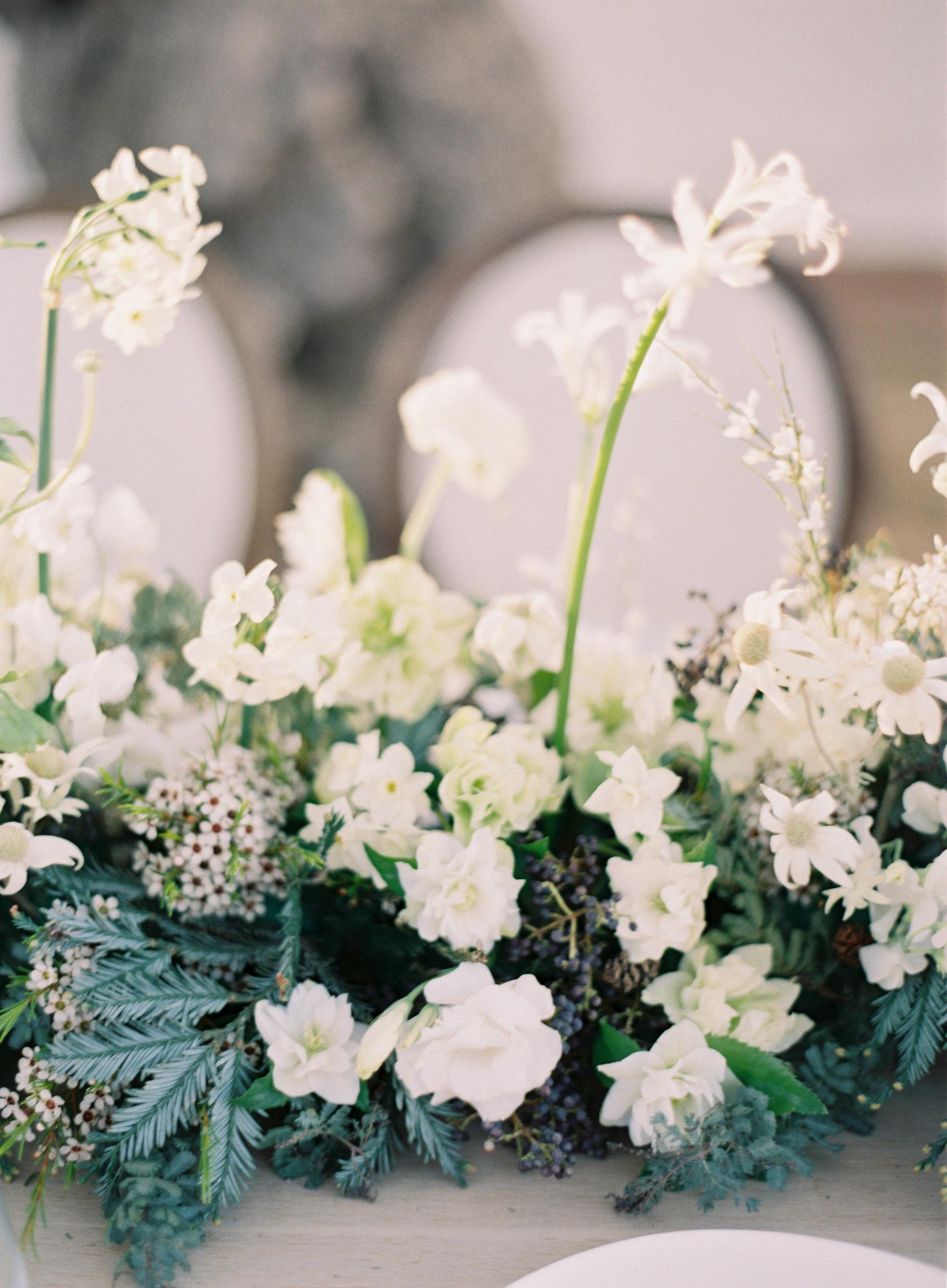 winter wedding centerpieces jen huang