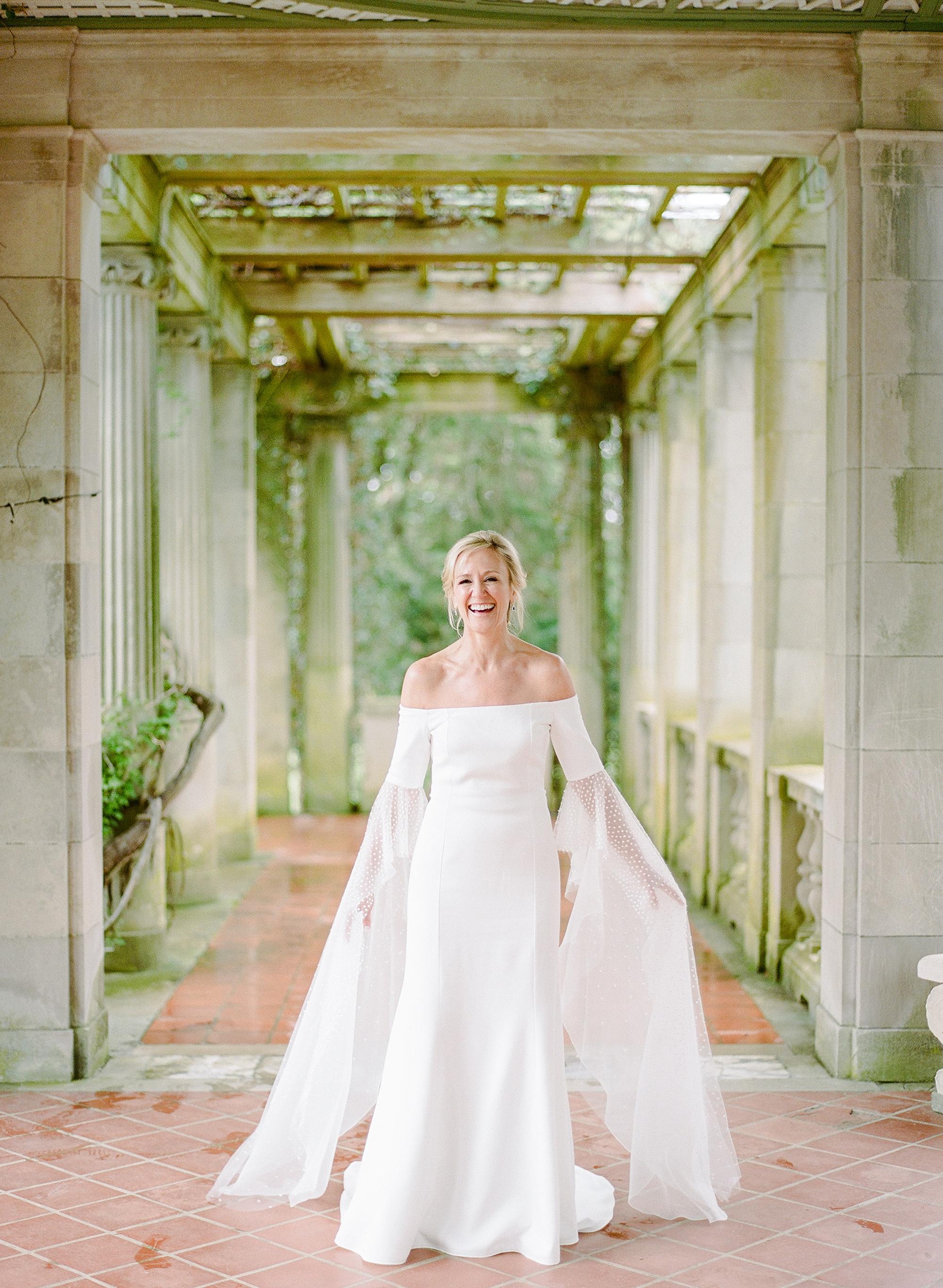 michelle robert wedding bride sleeves