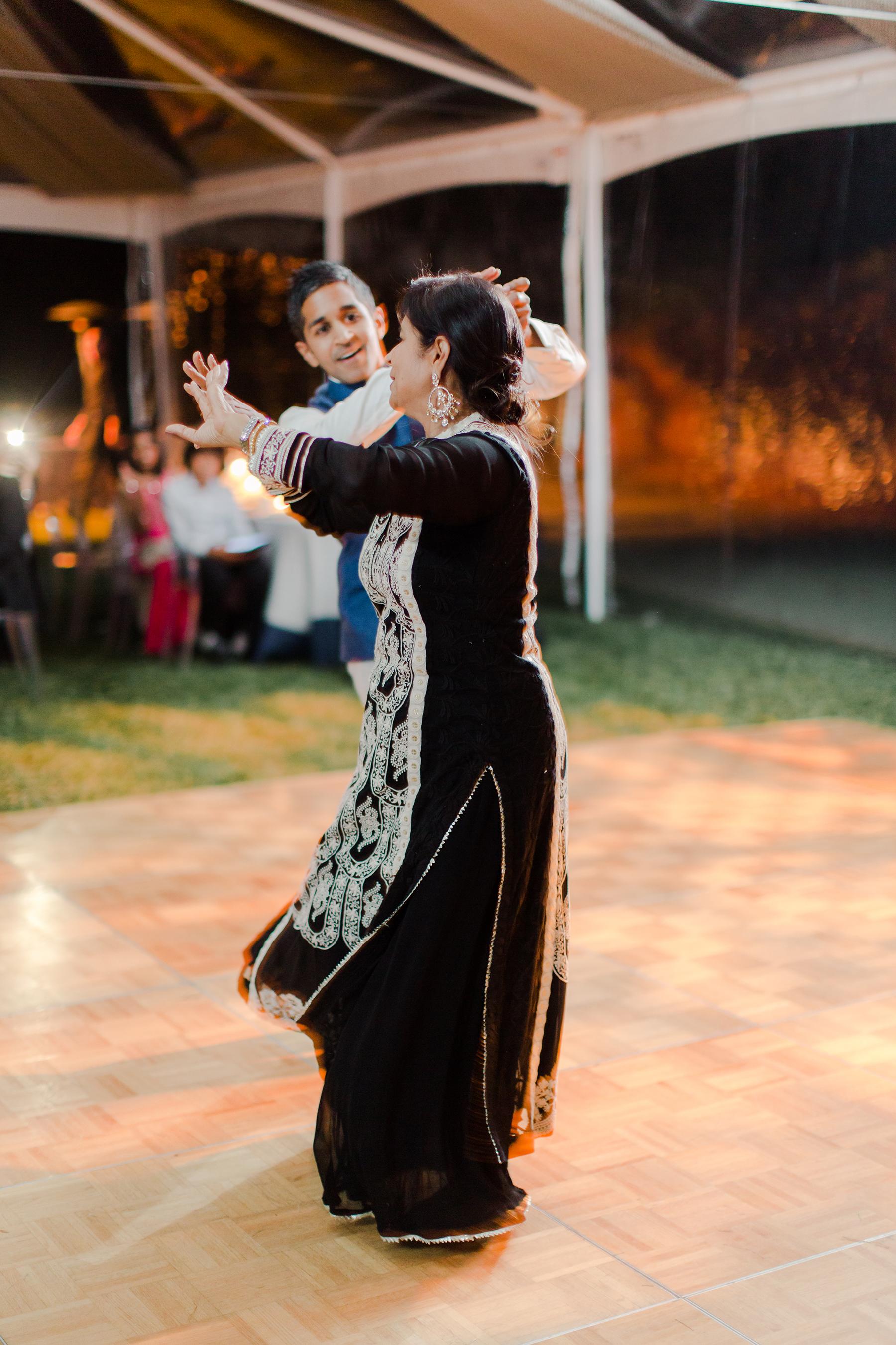 jenna alok welcome party mom dance