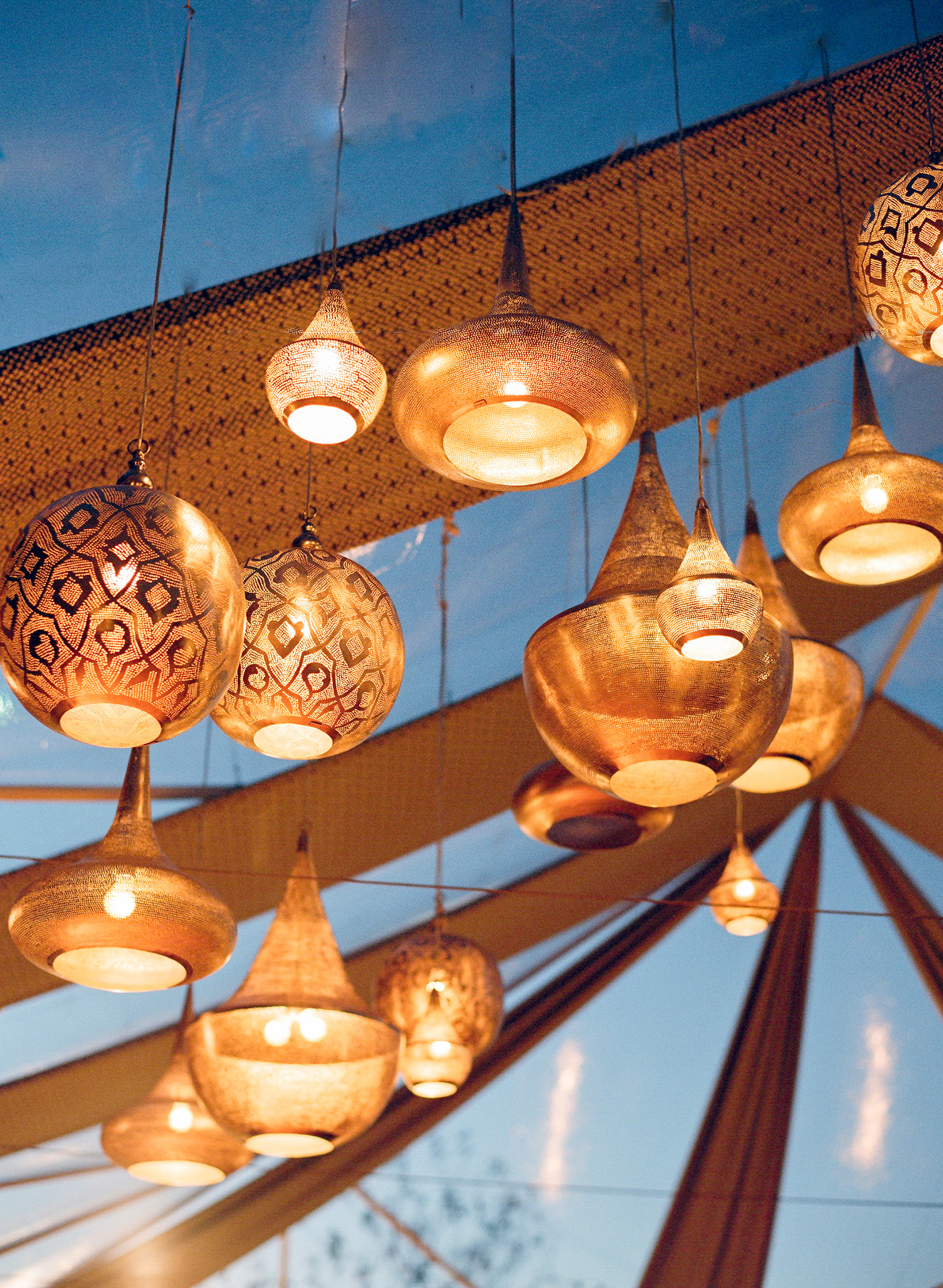 jenna alok welcome party lanterns