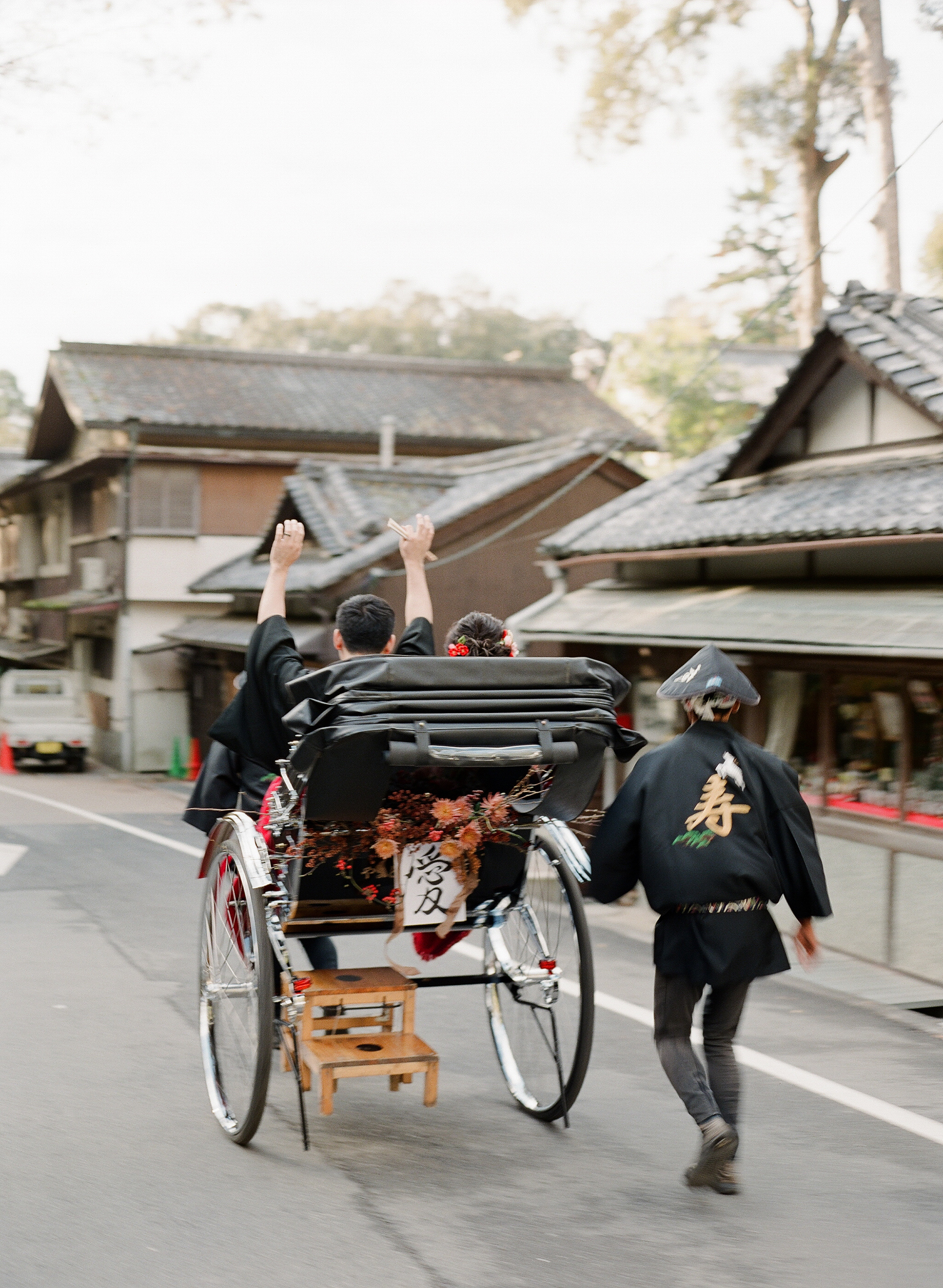 addie richard wedding japan rickshaw