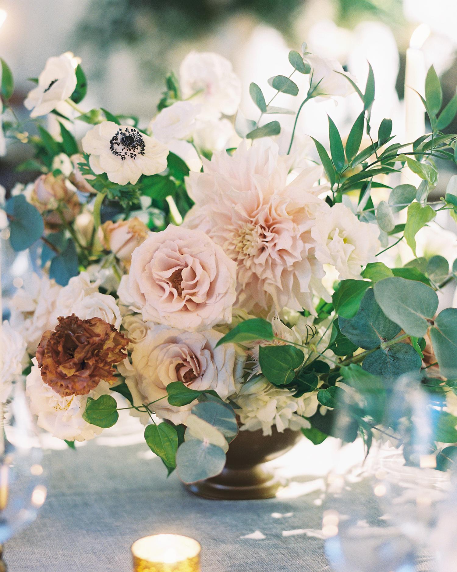 jessica brian wedding centerpiece