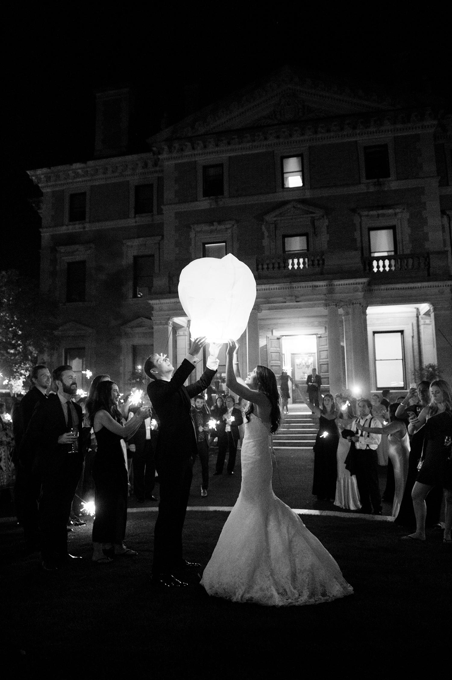 jessica brian wedding wish lantern