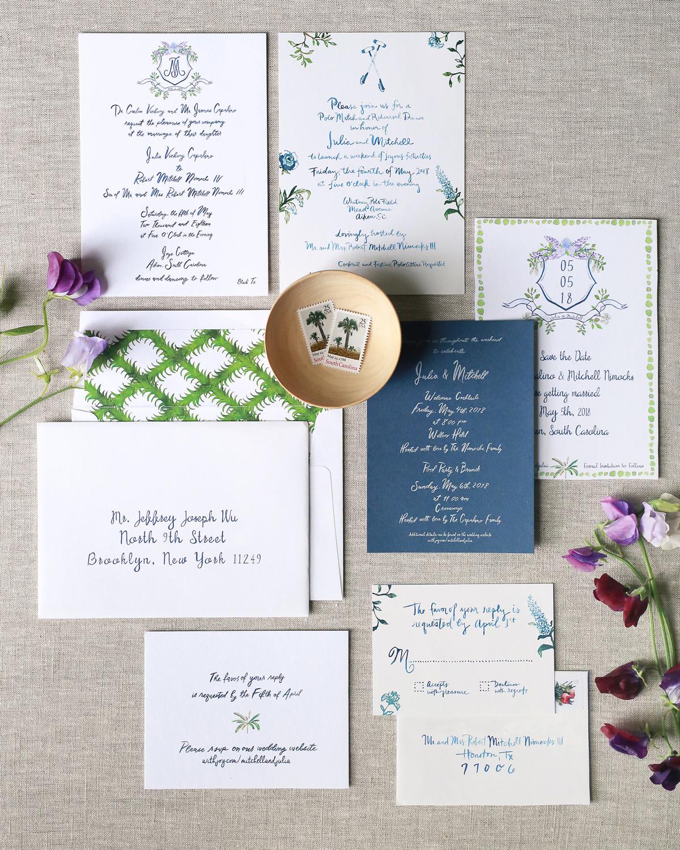 julia mitchell wedding stationary suite