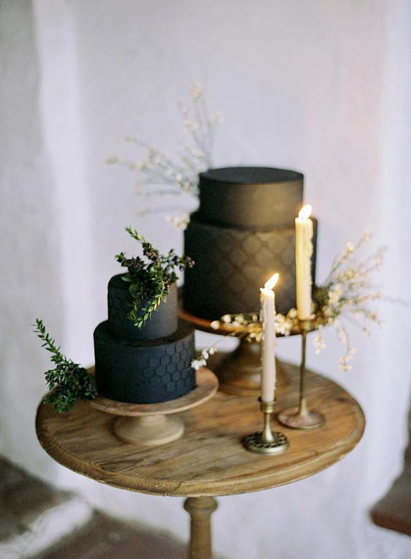 black wedding cake jen huang ninecakes