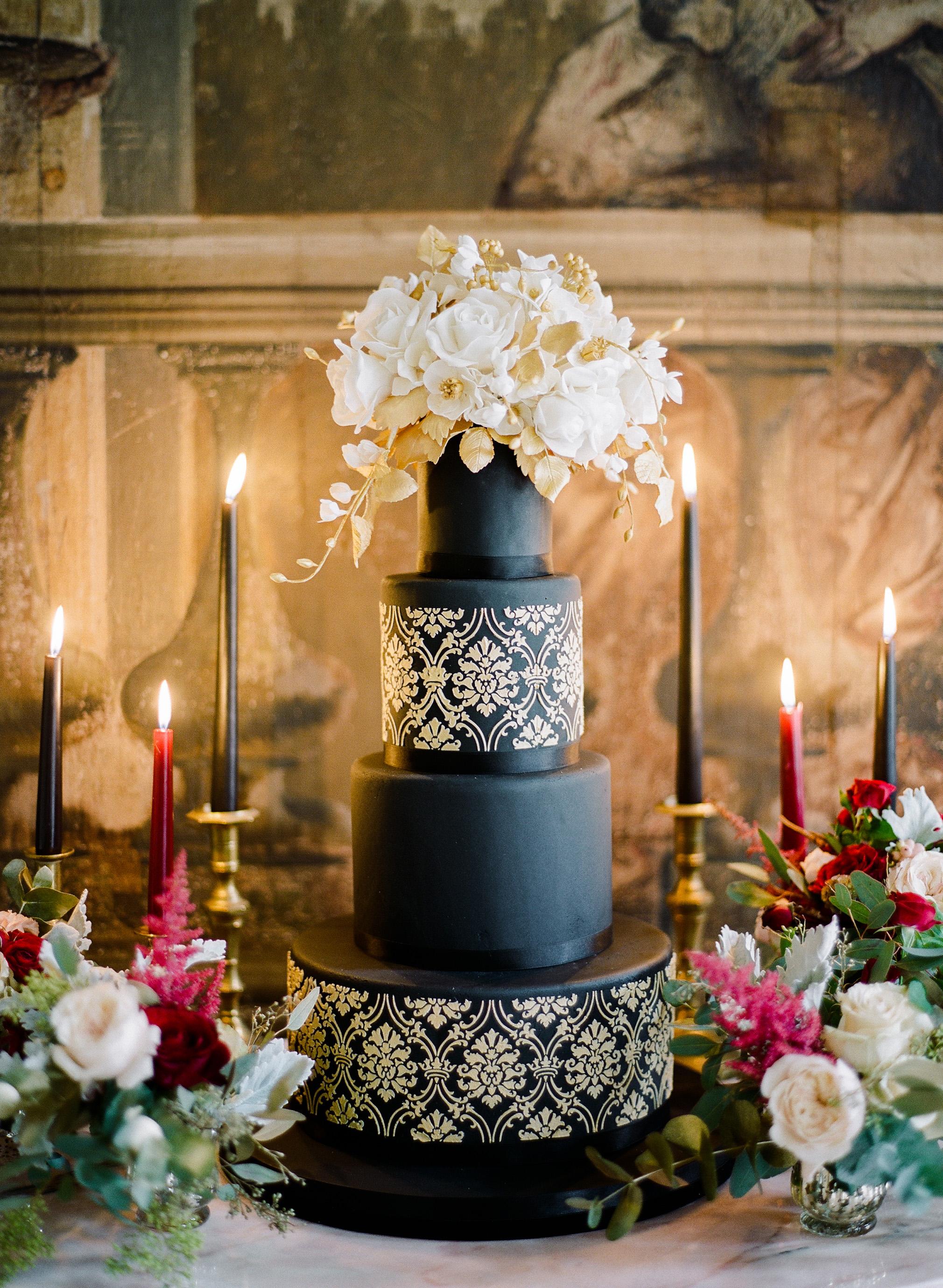 black wedding cake rebecca yale ibridoditea