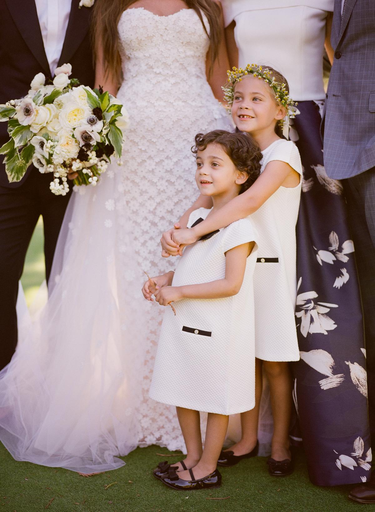 alessa andrew wedding flower girls