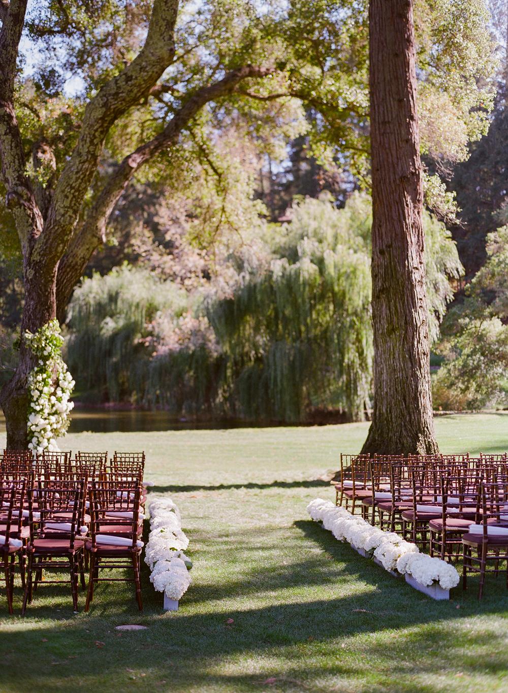 alessa andrew wedding ceremony aisle