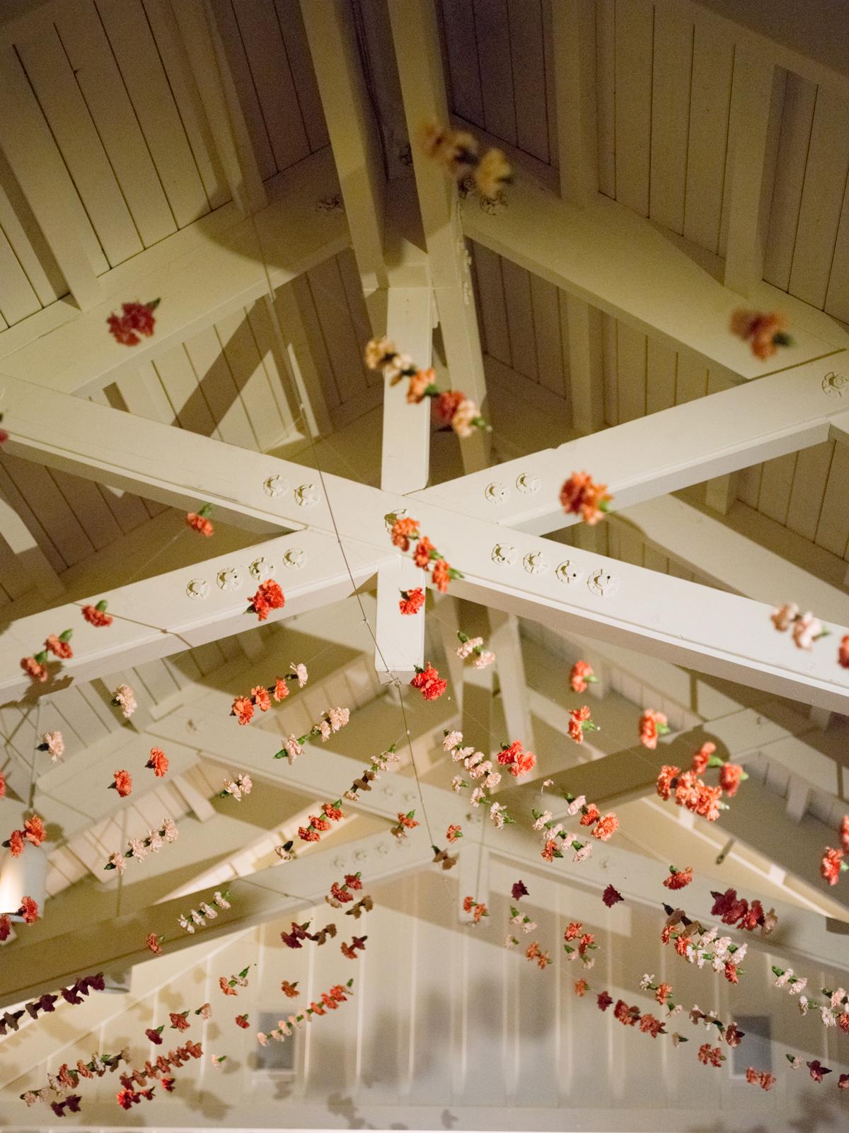 alessa andrew wedding flower garlands