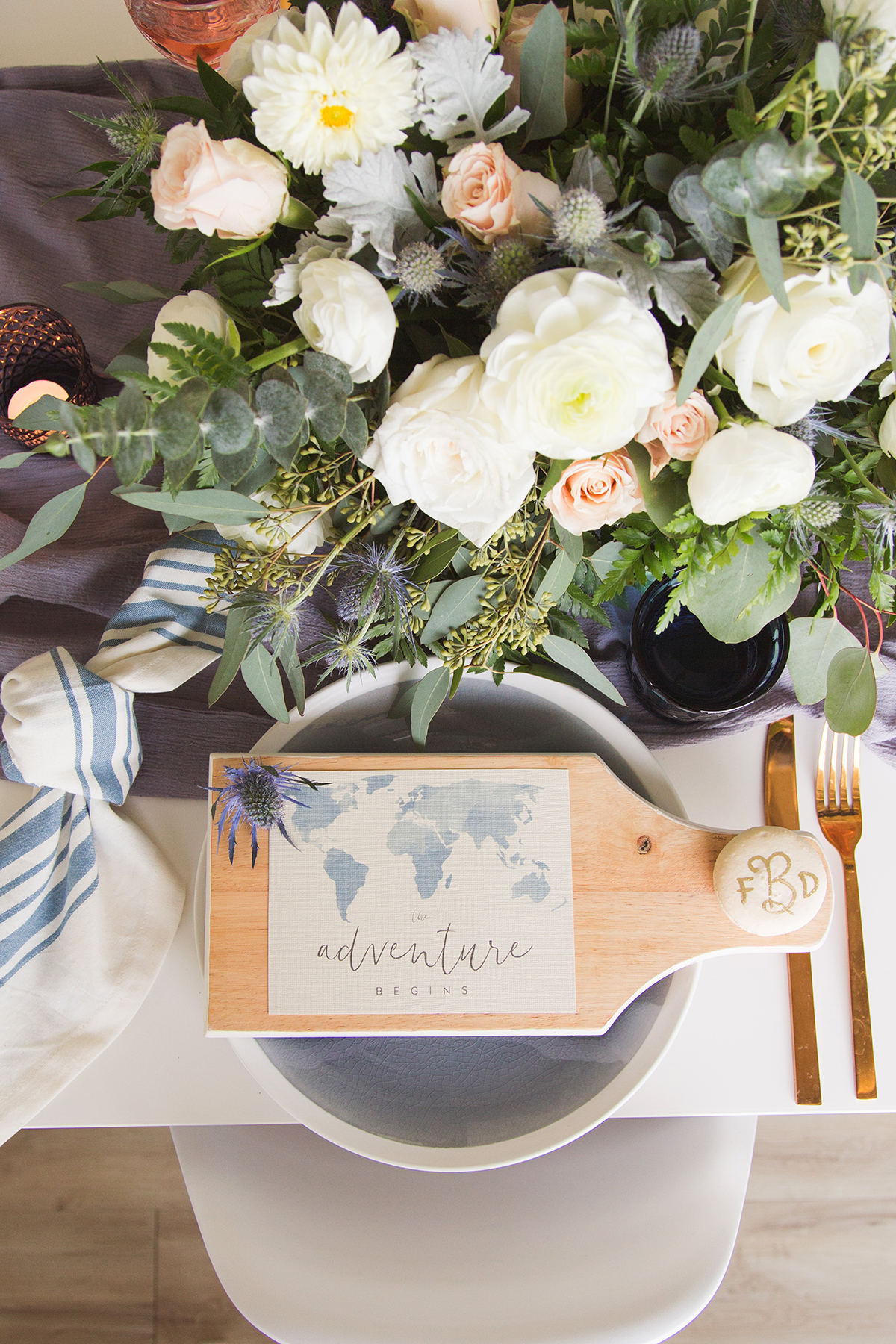 map wedding placemats