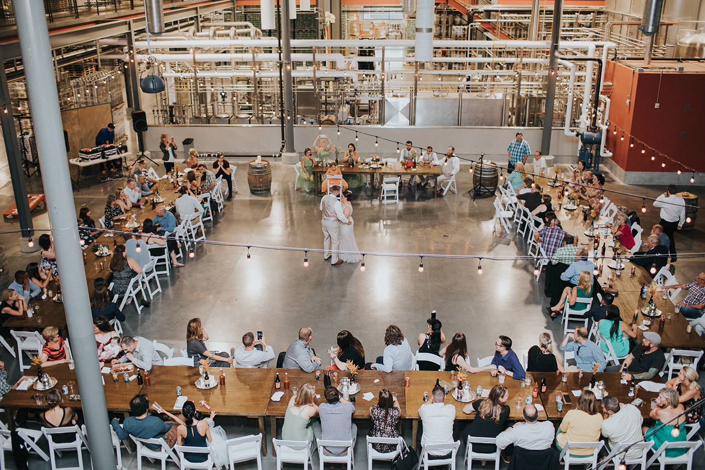 brewery wedding venues first dance