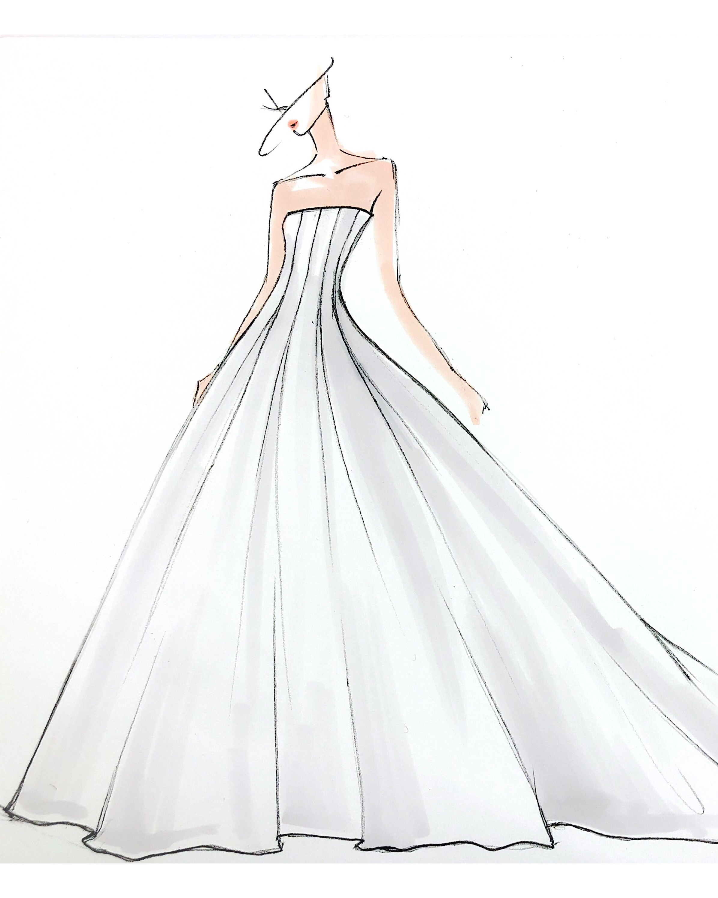 bridal fashion week sketches fall 2019 amsale