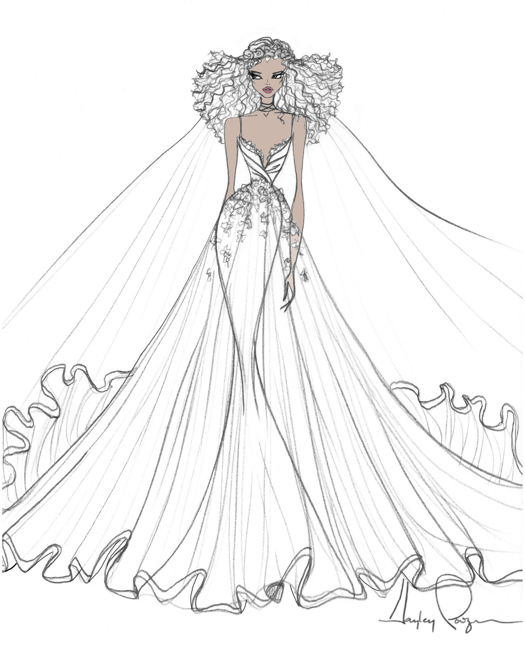 bridal fashion week sketches fall 2019 blush by hayley paige