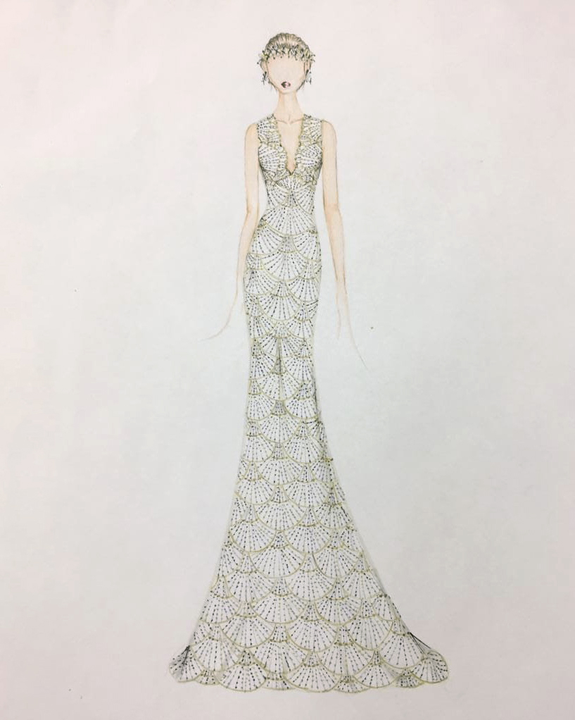 bridal fashion week sketches fall 2019 francesca miranda