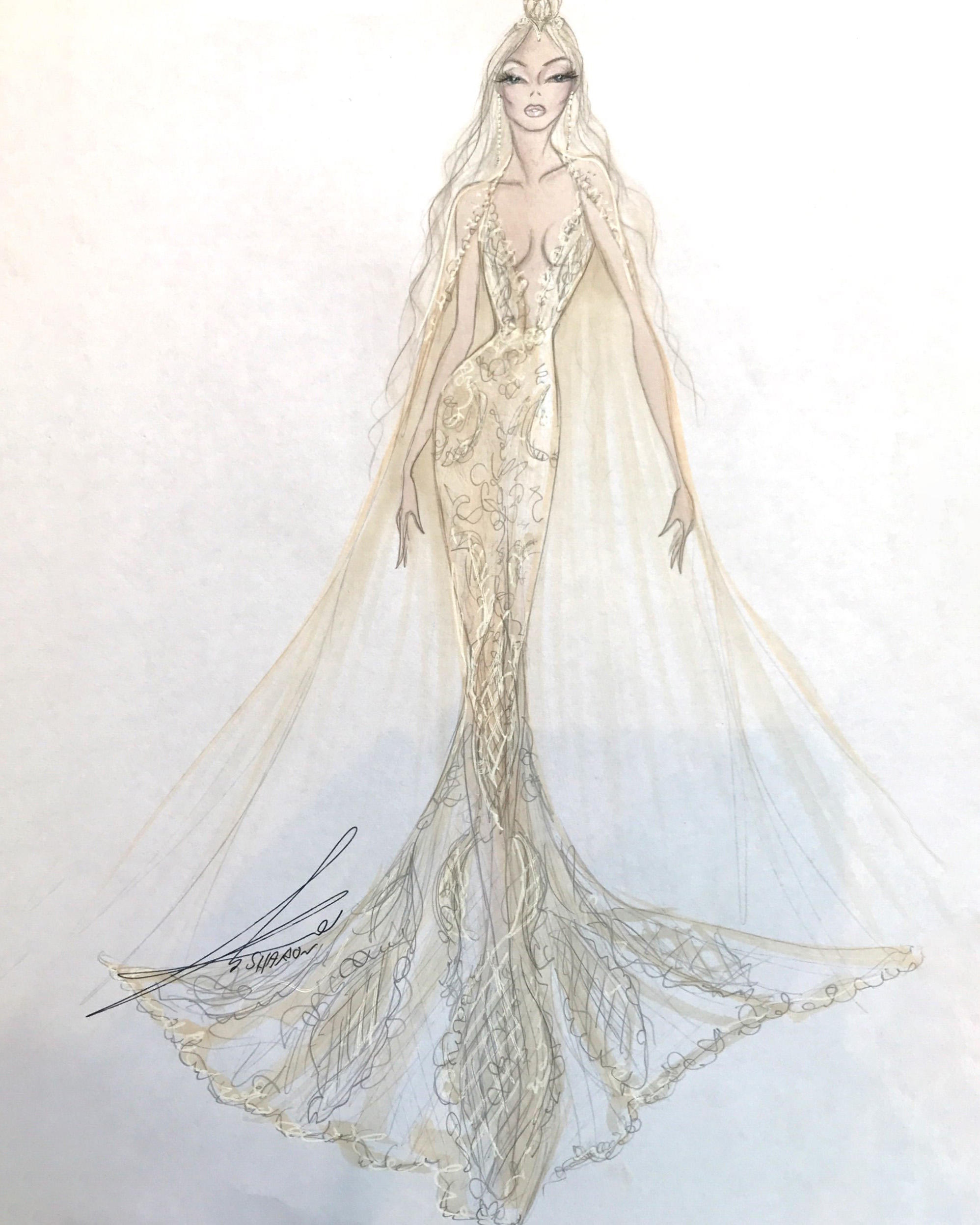 bridal fashion week sketches fall 2019 gala by galia lahav