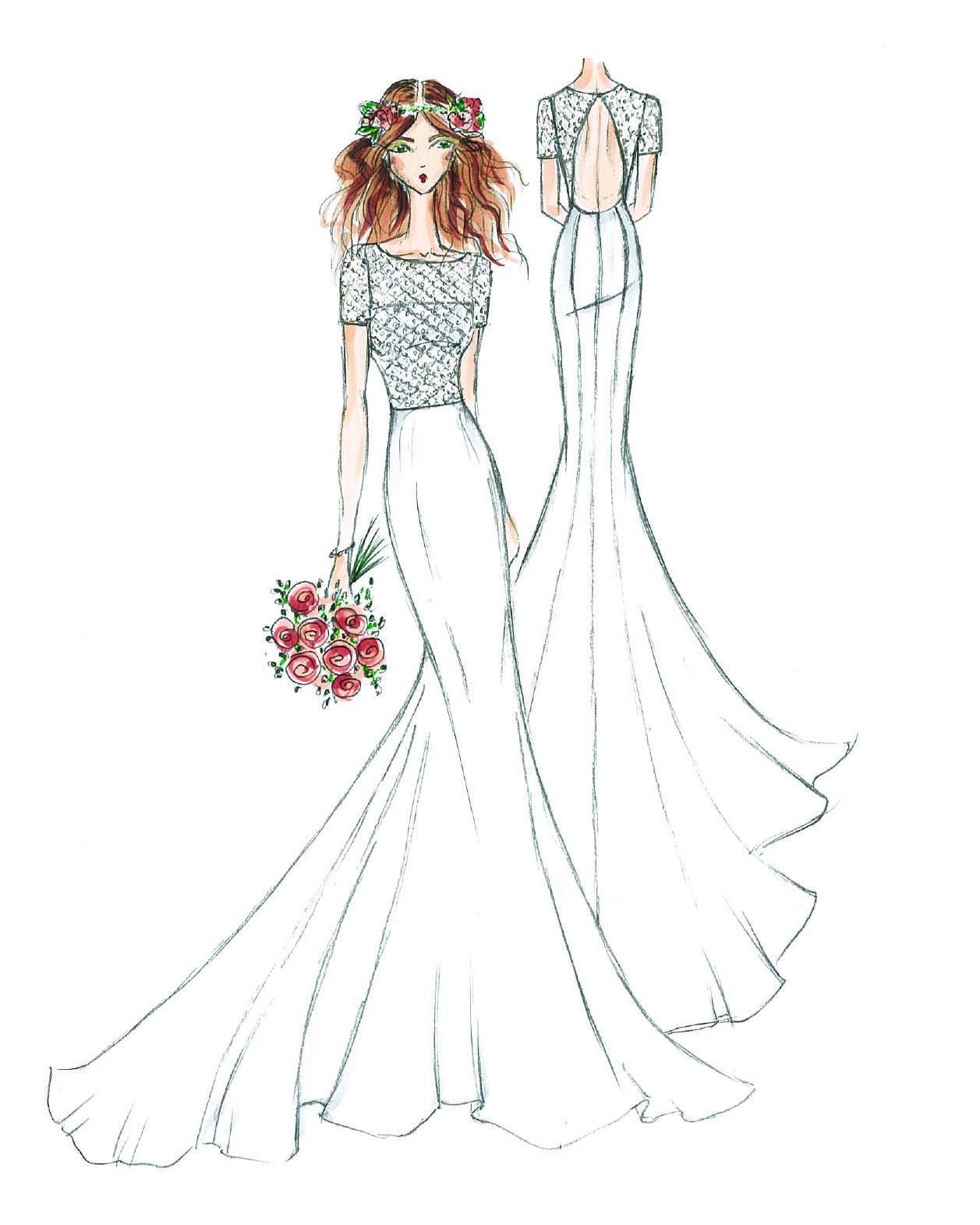 bridal fashion week sketches fall 2019 galina bridal