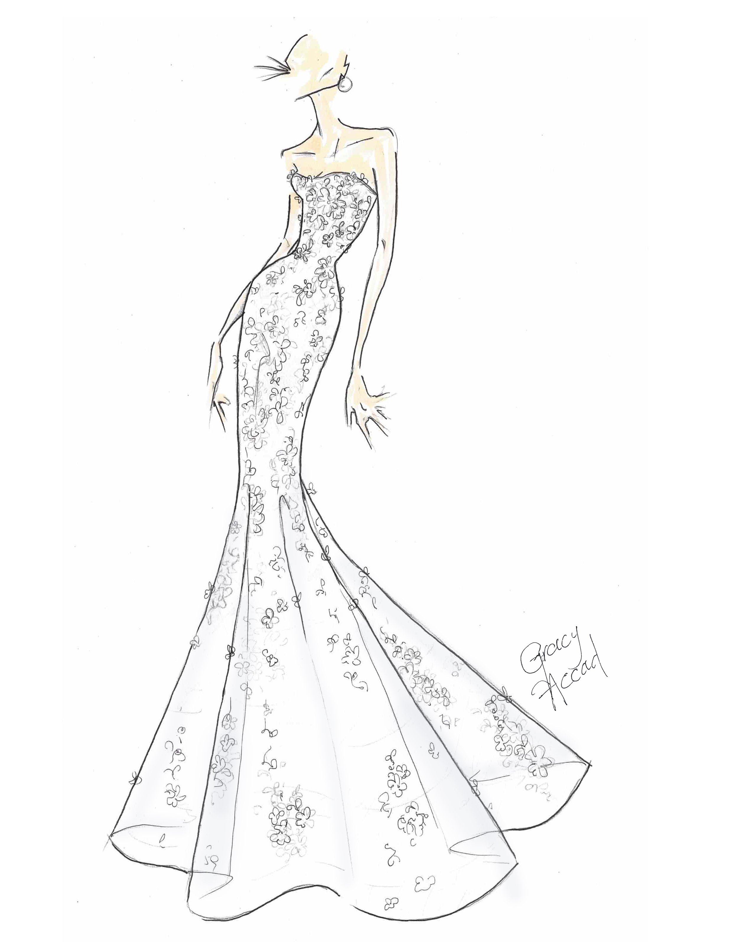 bridal fashion week sketches fall 2019 gracy accad