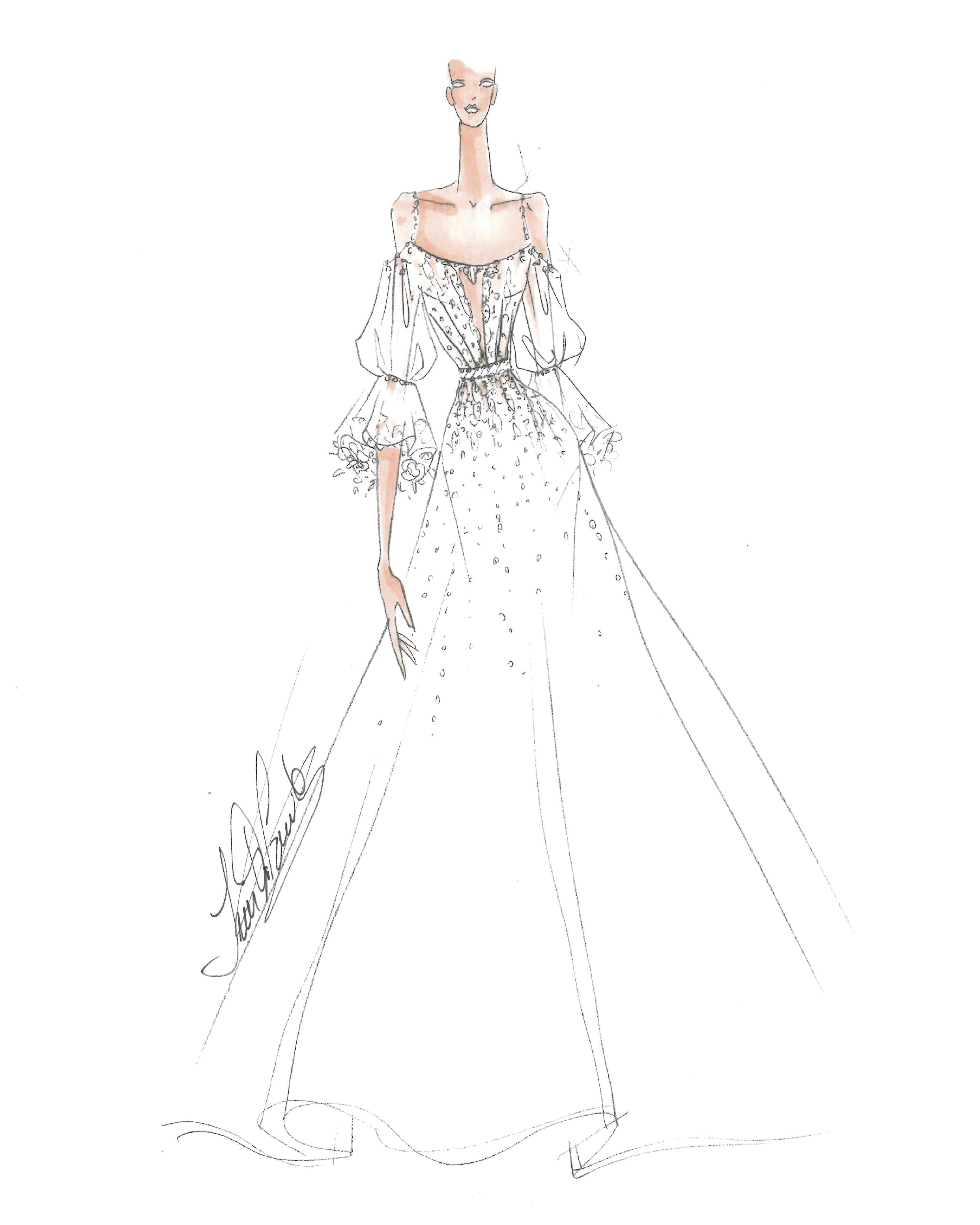 bridal fashion week sketches fall 2019 ines di santo