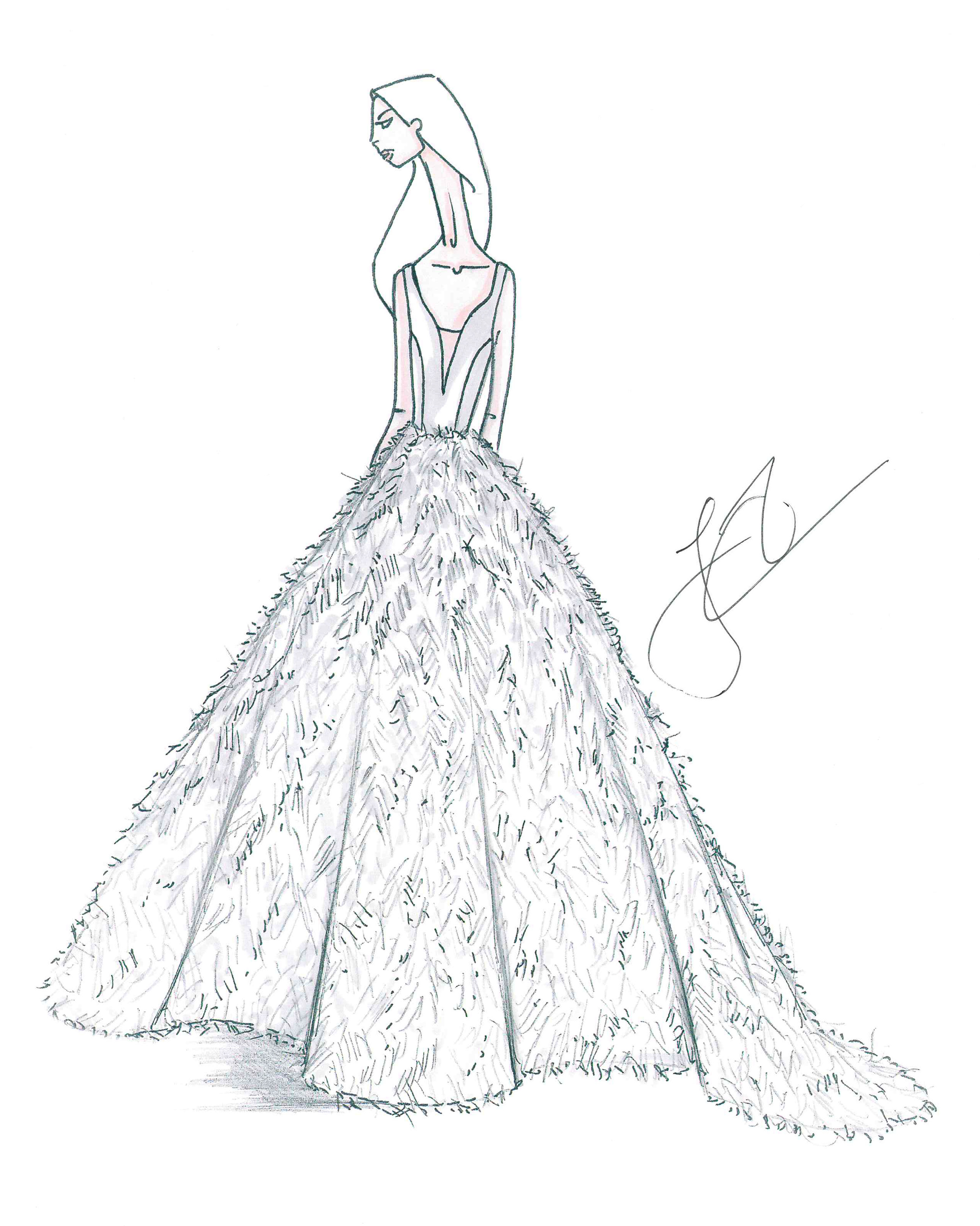 bridal fashion week sketches fall 2019 justin alexander