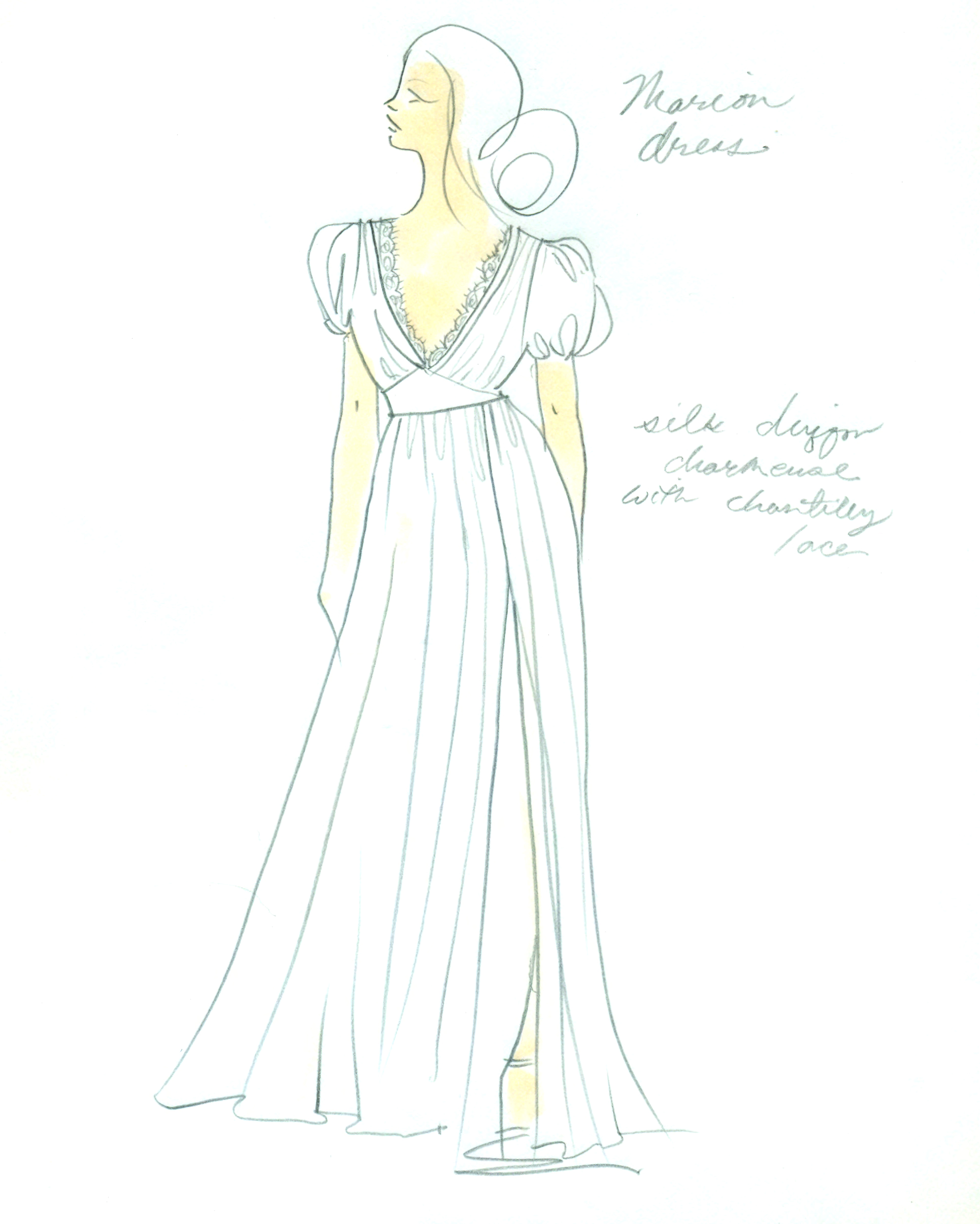 bridal fashion week sketches fall 2019 l wells