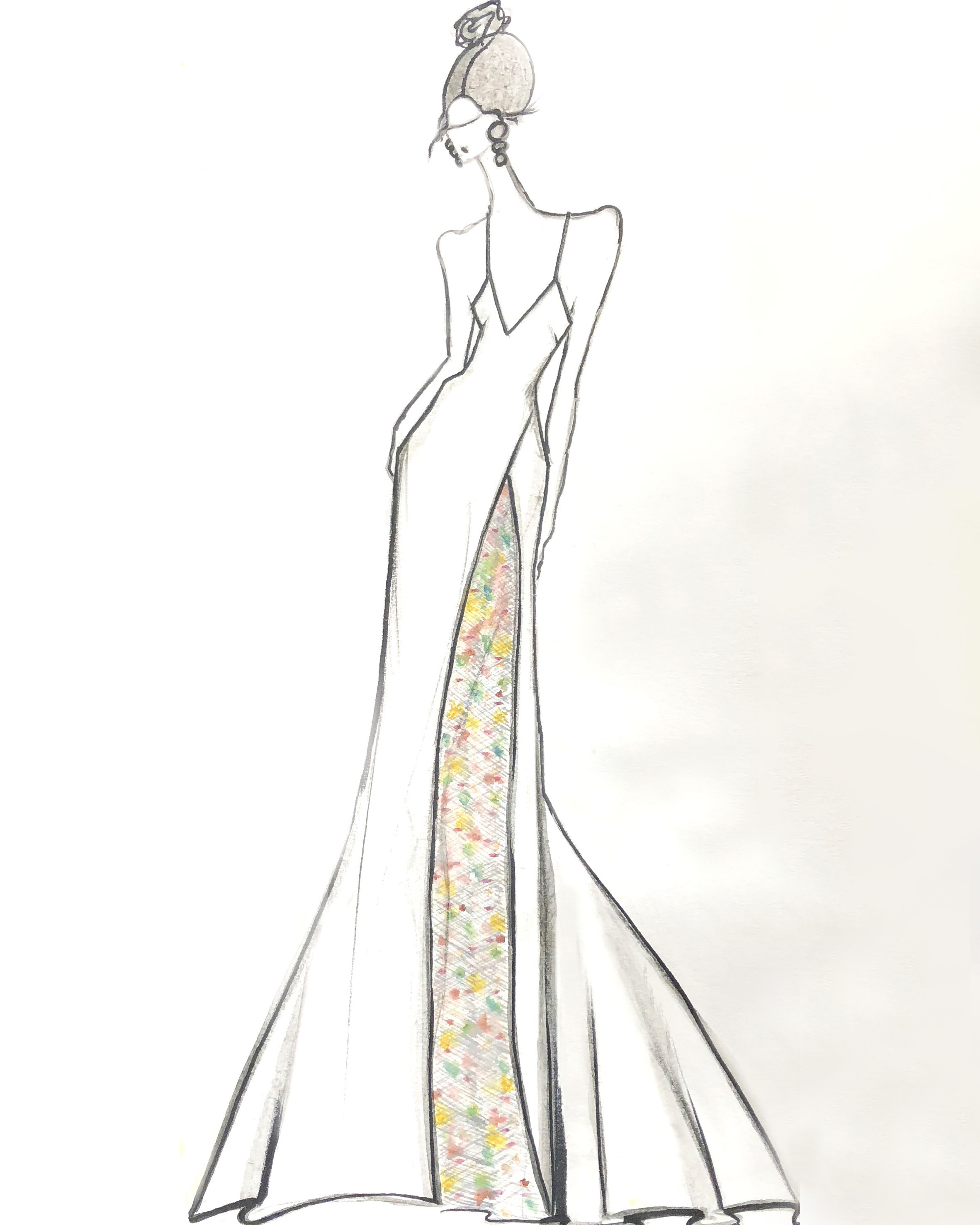 bridal fashion week sketches fall 2019 lakum