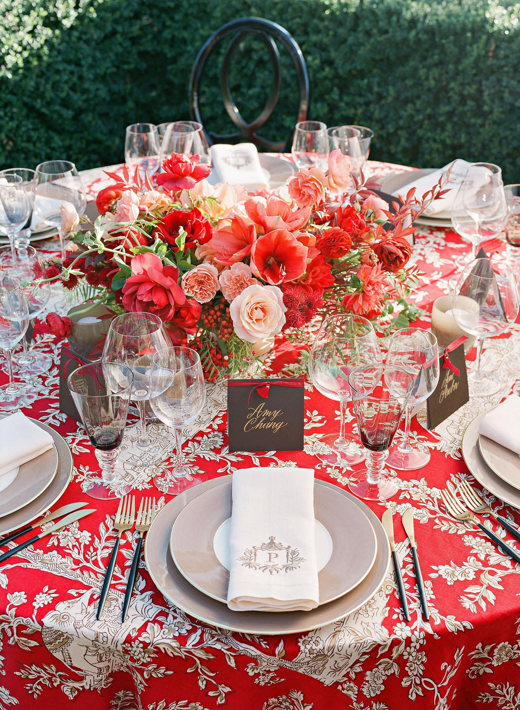jenna alok wedding wine country california table setting