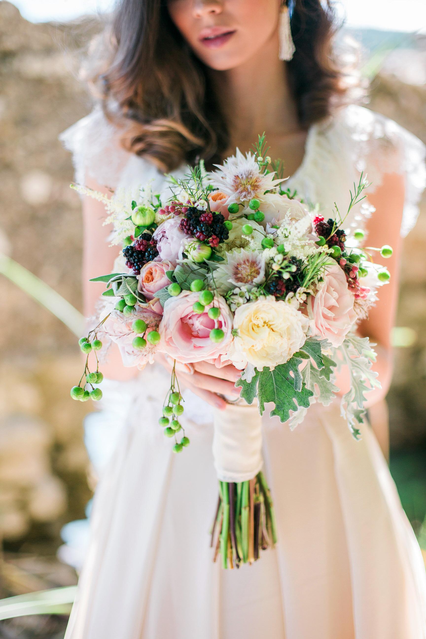 bouquet wraps ribbon bride flowers