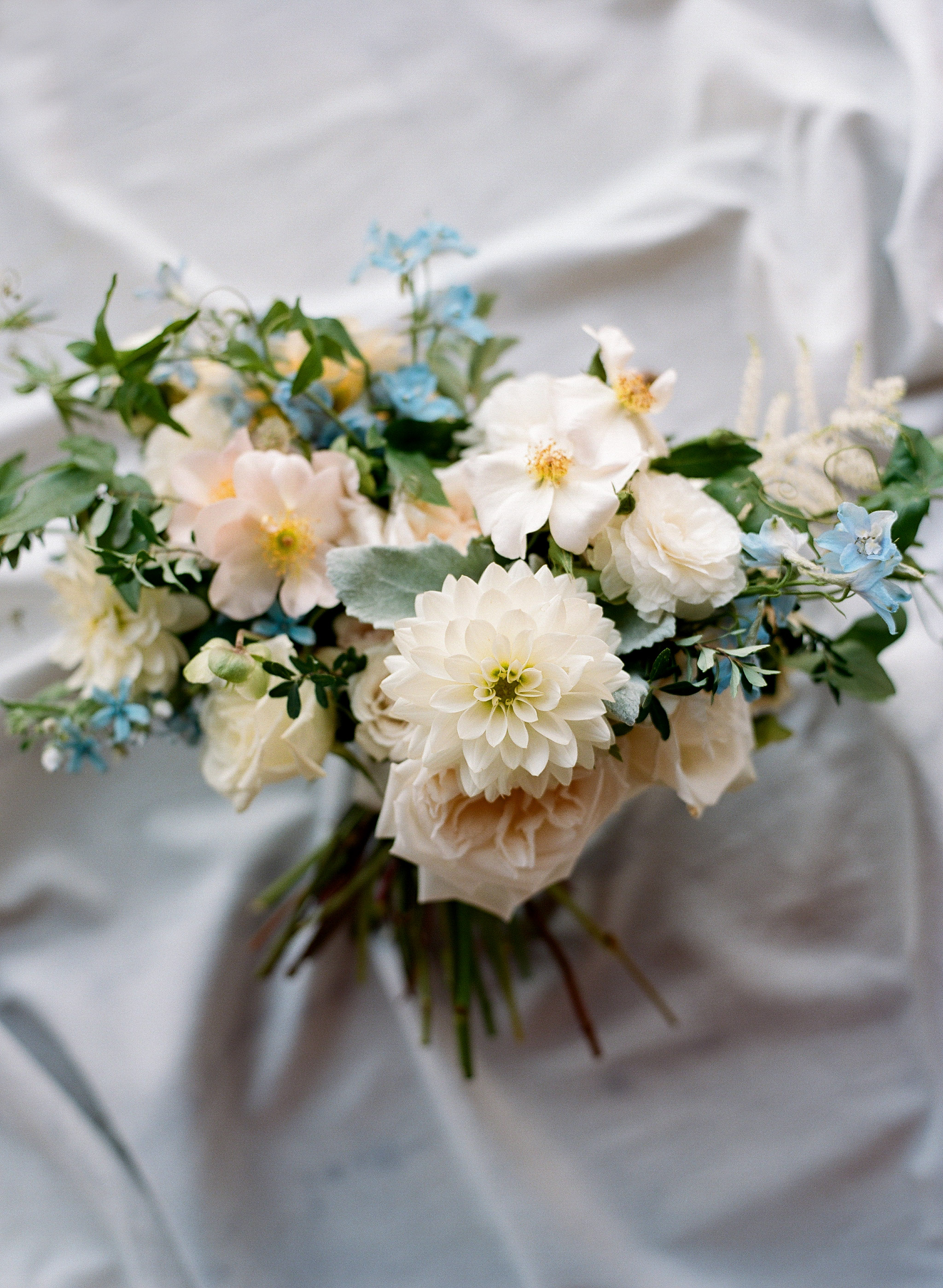 blue bouquet elisa bricker malloryjoyce