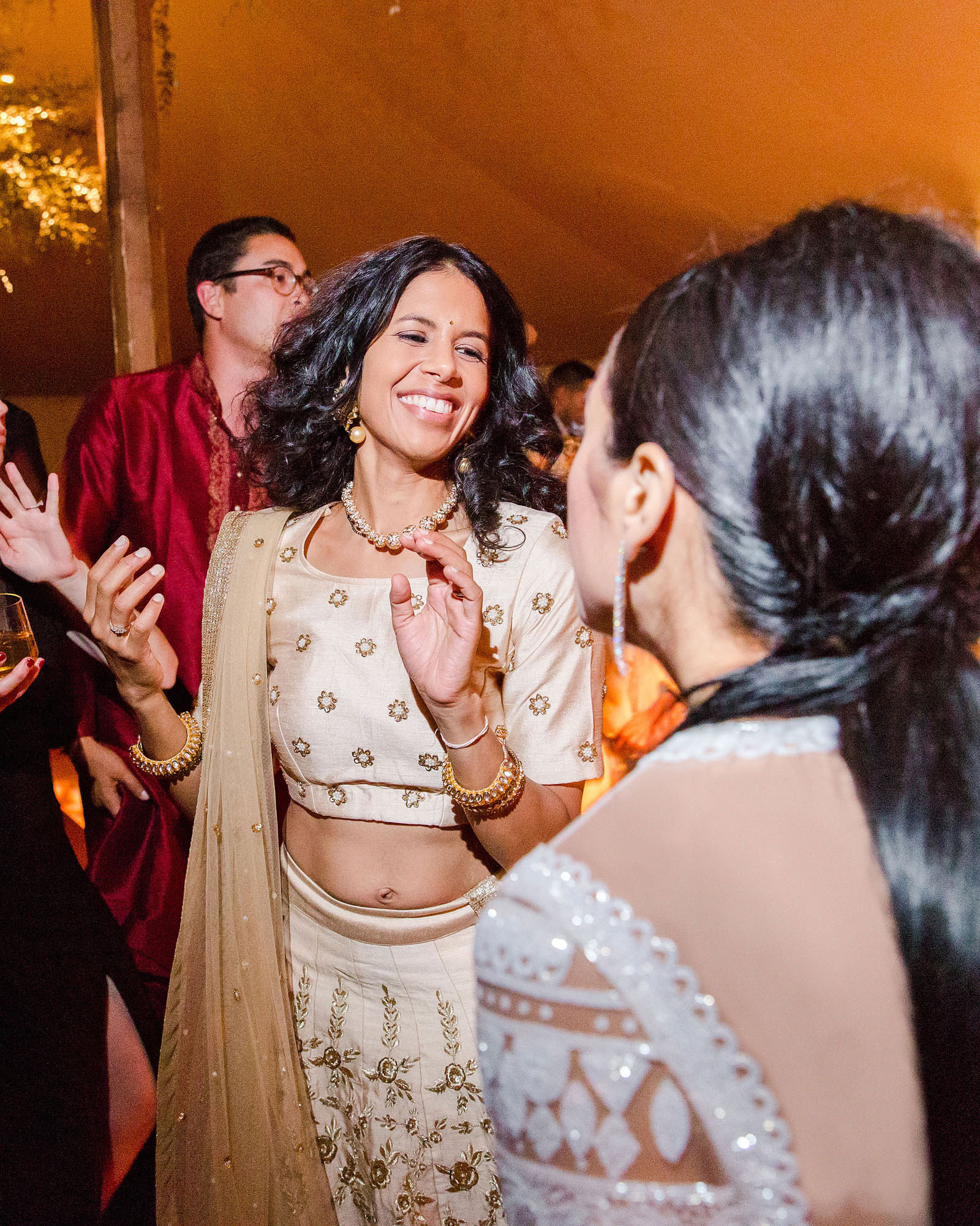 jenna alok wedding wine country california guests dance floor