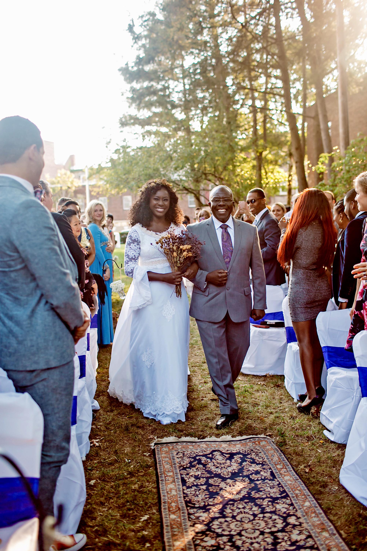 vasthy mason wedding processional bride and dad
