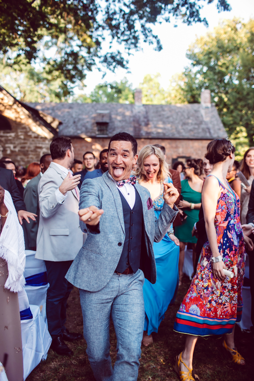 vasthy mason wedding recessional guests dancing