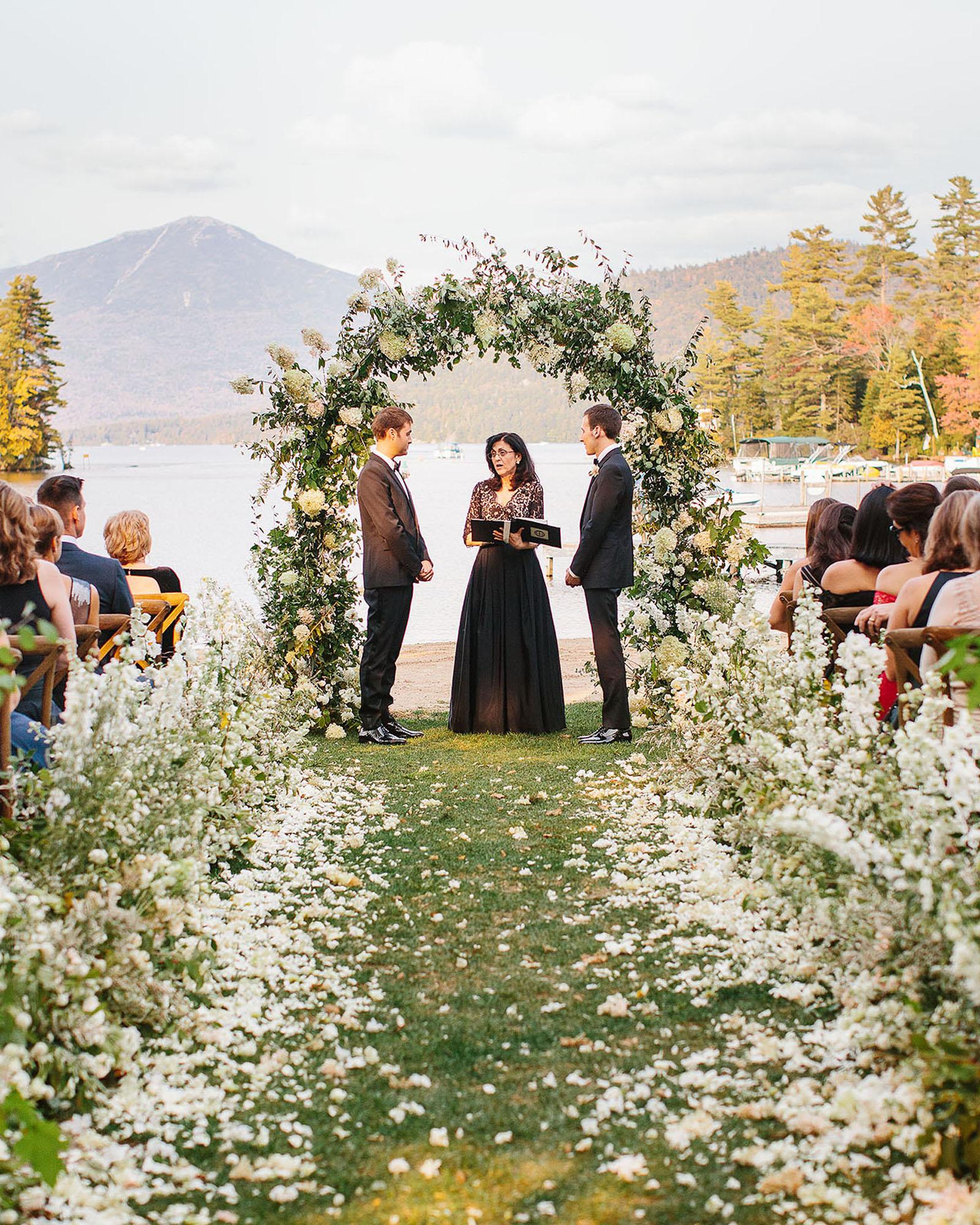 tory sean wedding lake placid new york ceremony