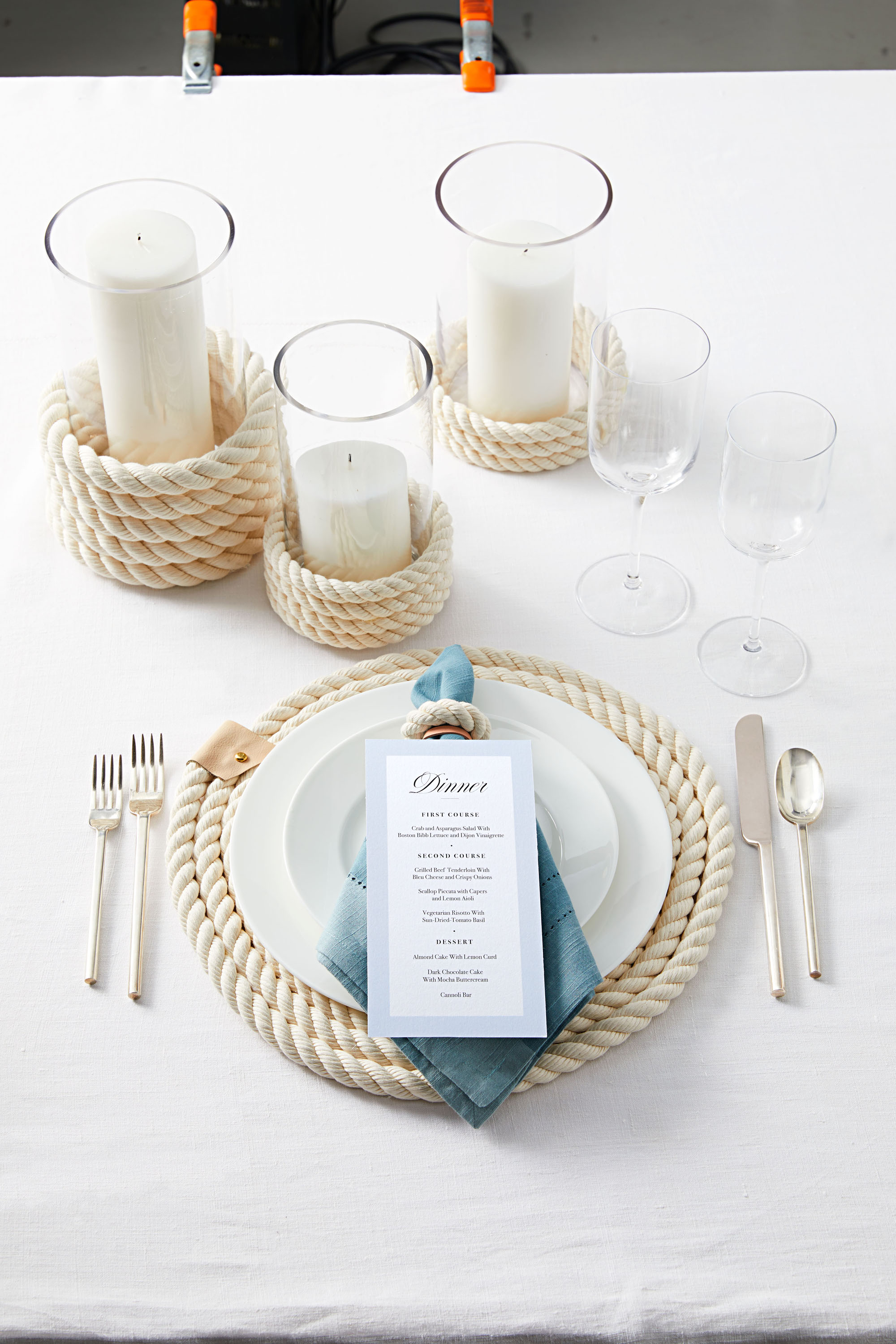 nautical themed table setting