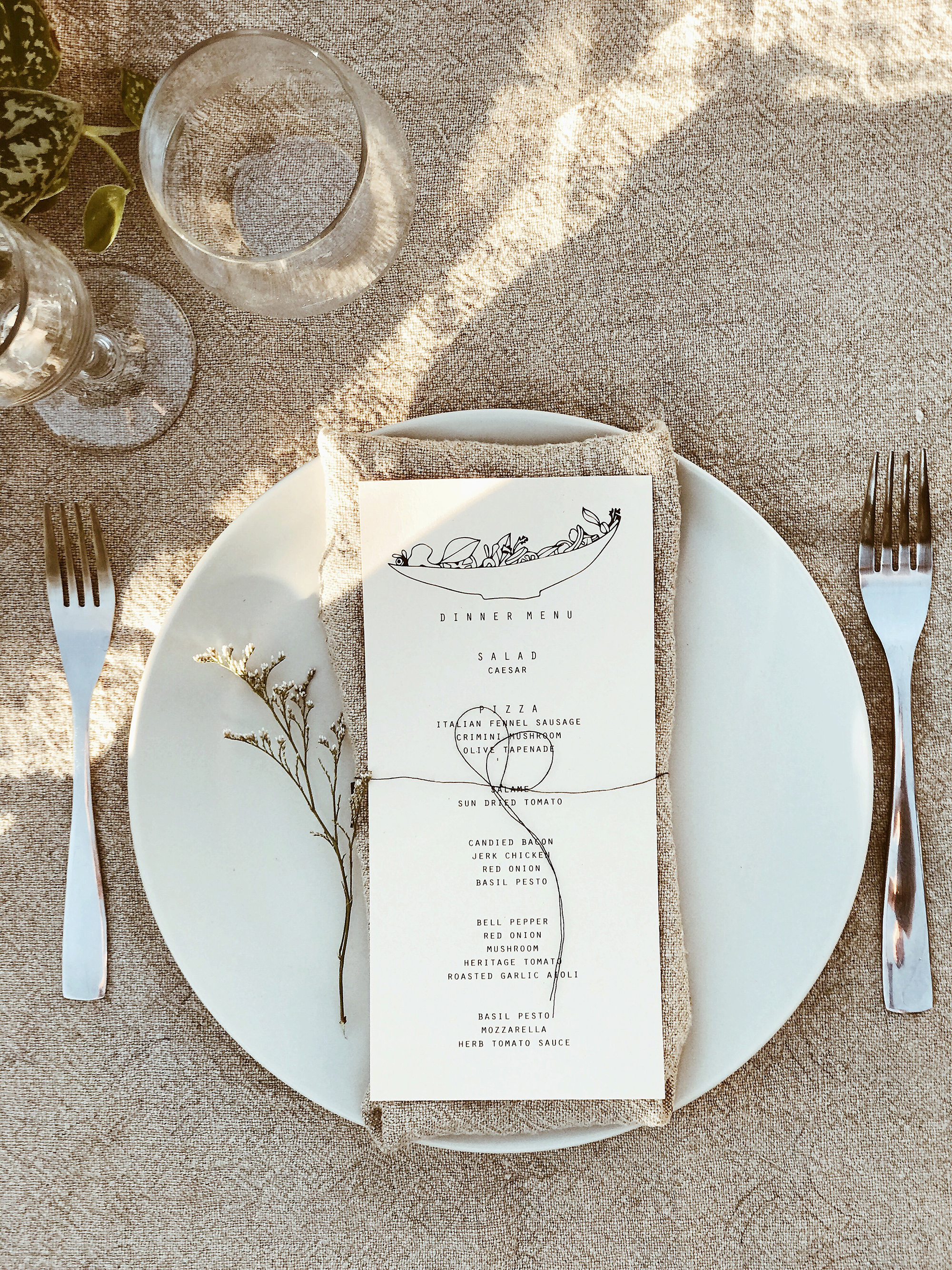 darcy matt wedding place setting