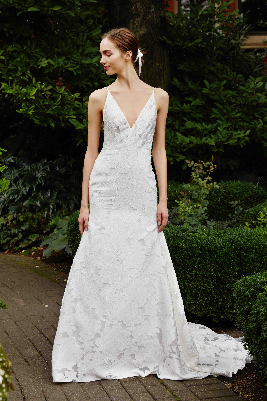 Lela Rose v-neck wedding dress fall 2019