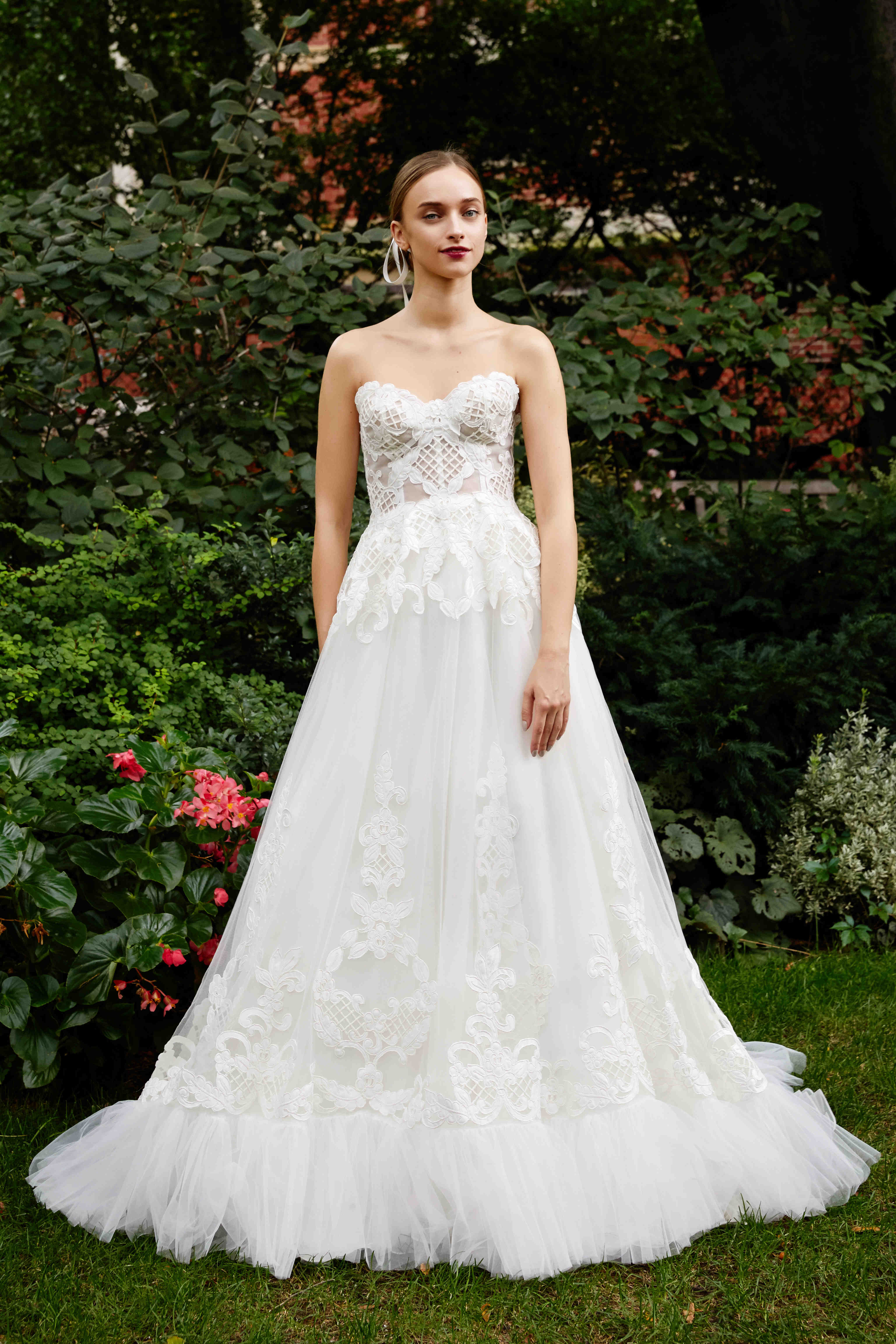 Lela Rose A-Line wedding dress with tulle fall 2019