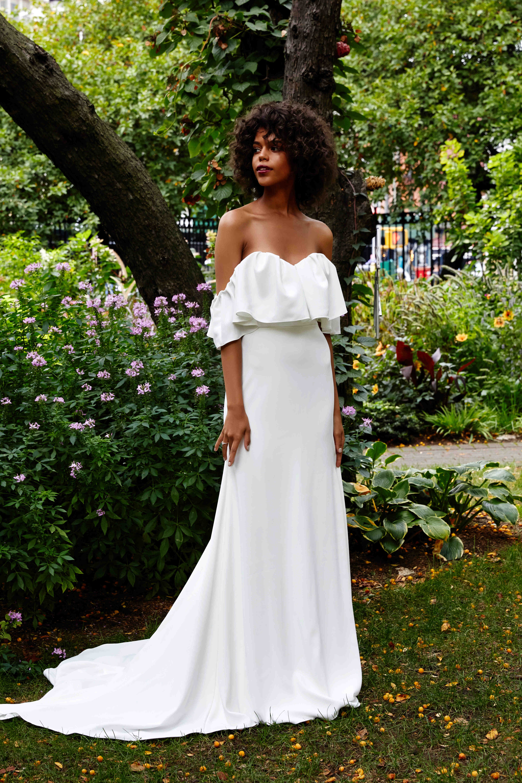 Lela Rose off the shoulder wedding dress fall 2019