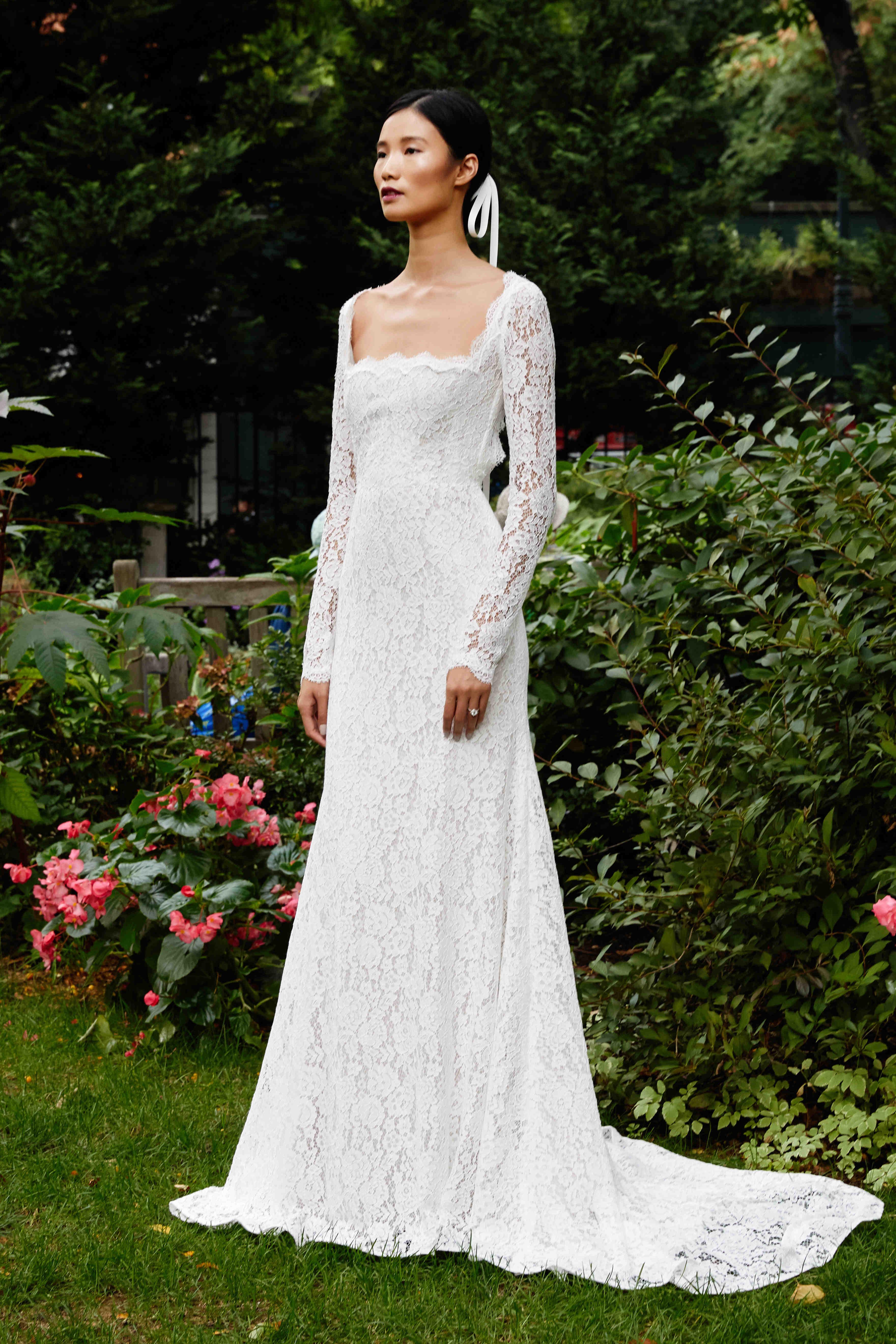 Lela Rose long sleeve wedding dress fall 2019